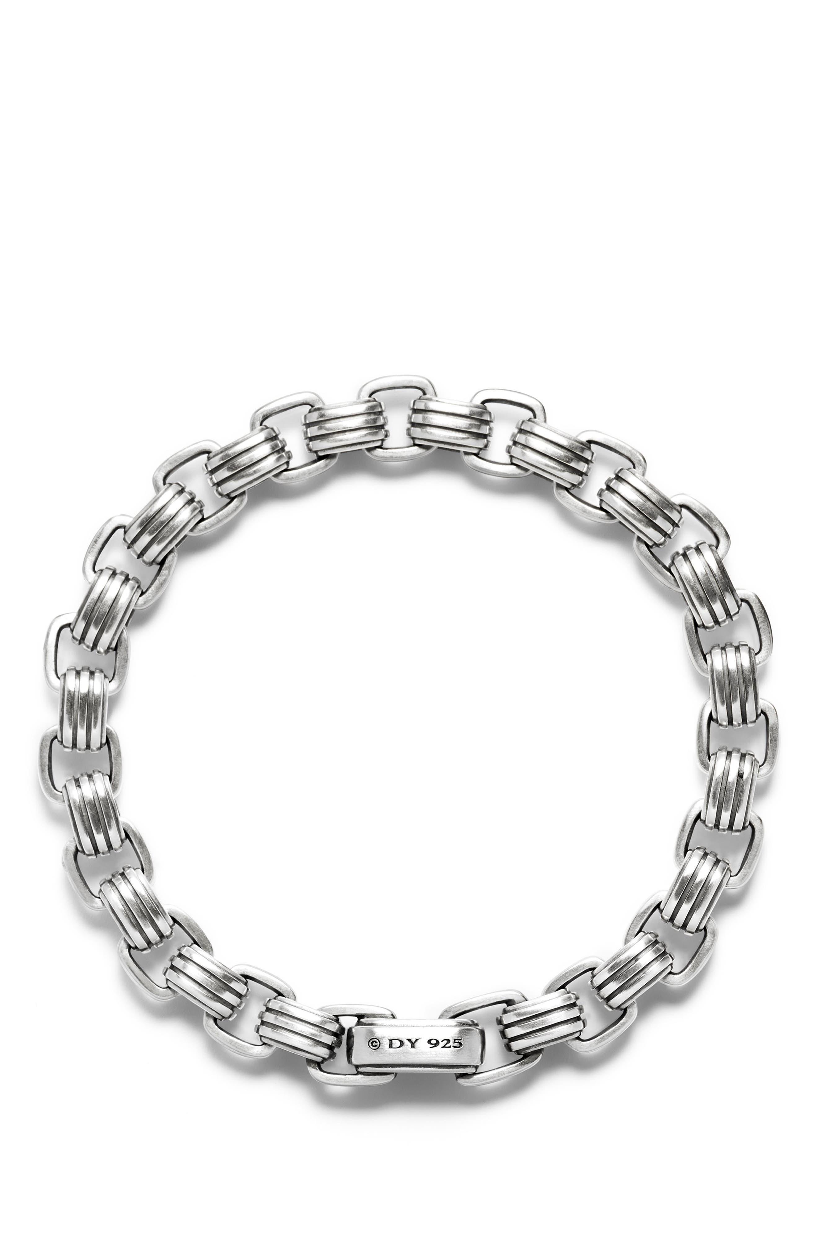 DAVID YURMAN, Southwest Link Bracelet, Alternate thumbnail 2, color, SILVER