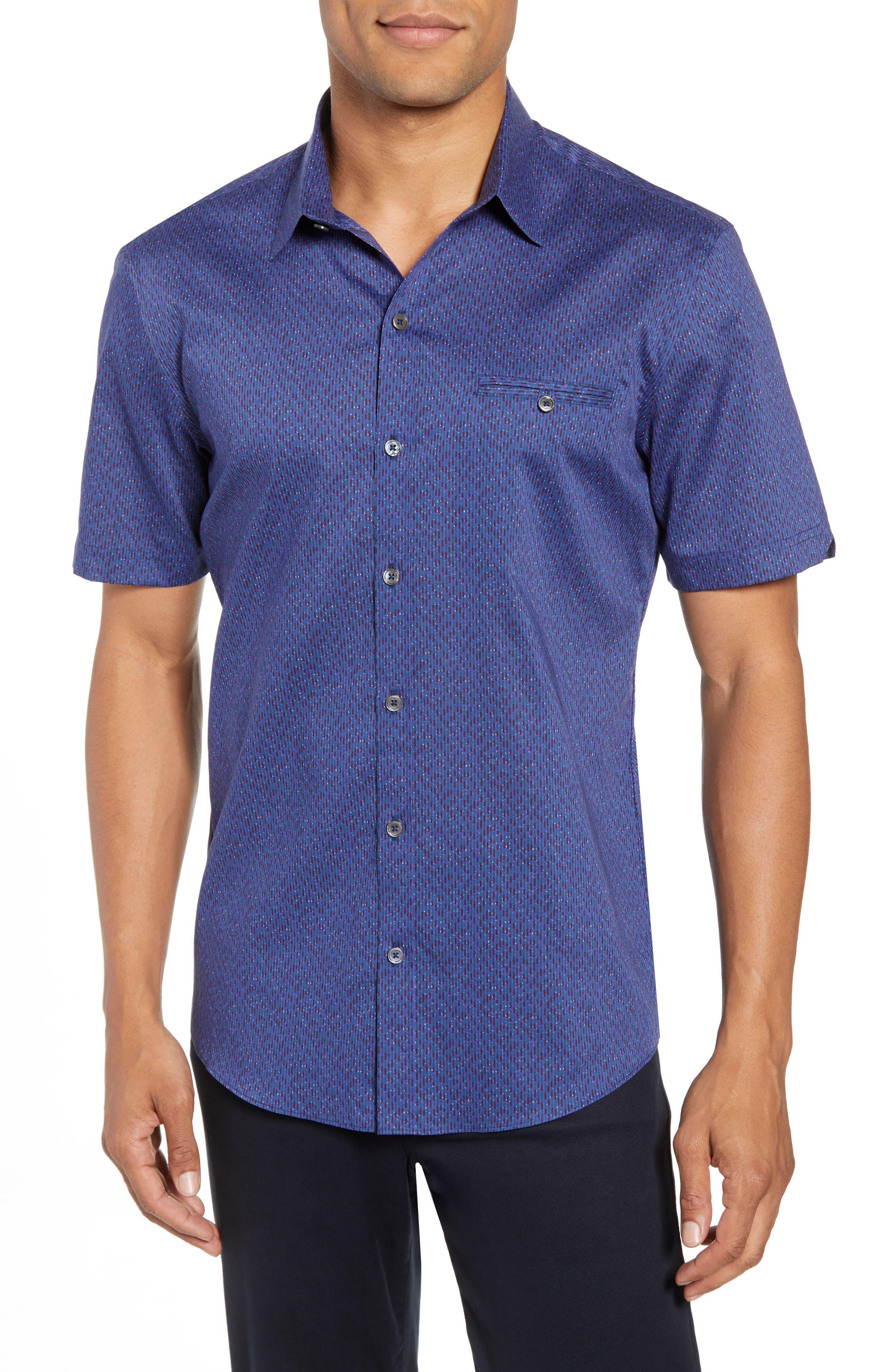 ZACHARY PRELL Print Sport Shirt, Main, color, 410