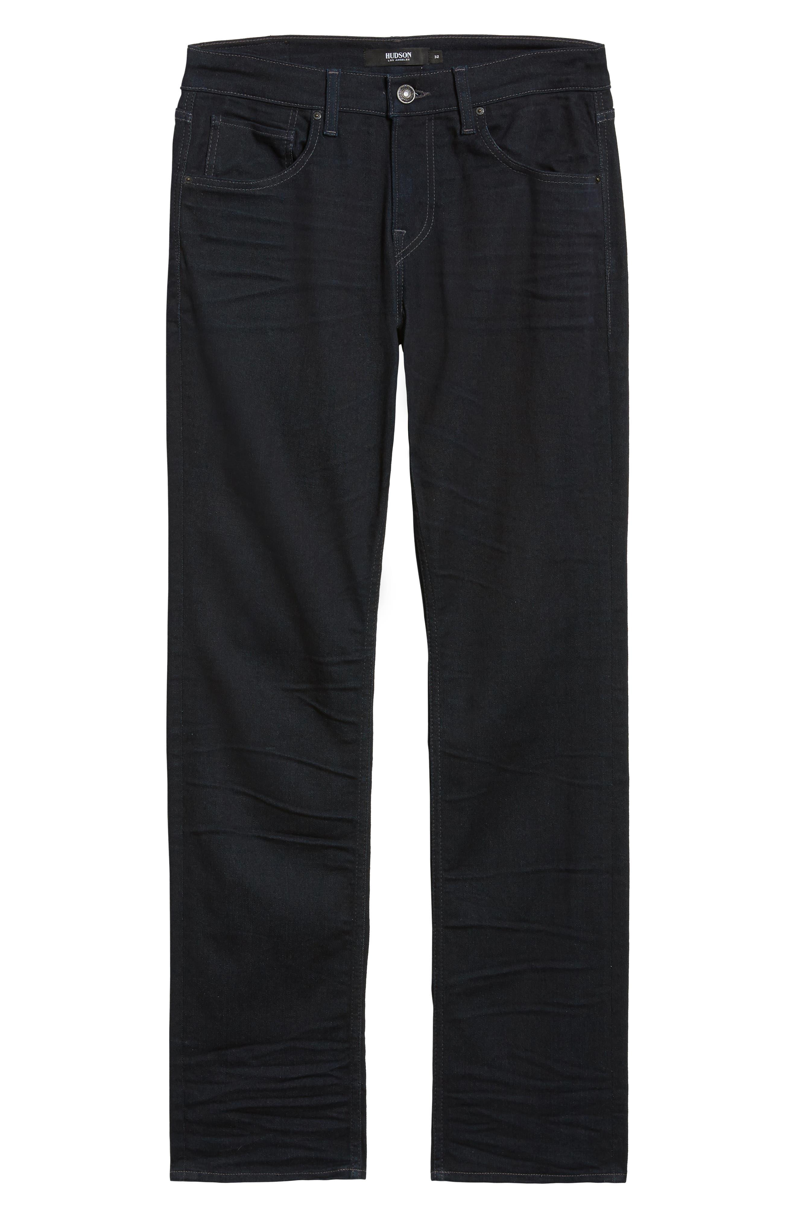 HUDSON JEANS, Byron Slim Straight Leg Jeans, Alternate thumbnail 6, color, TUDOR