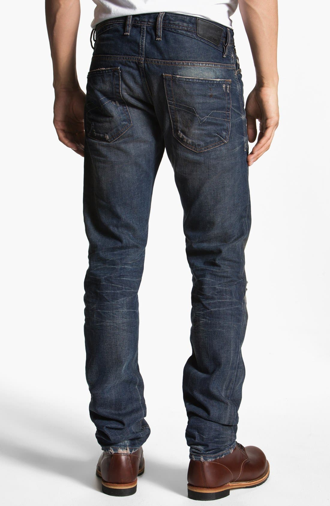DIESEL<SUP>®</SUP>, 'Shioner' Skinny Fit Jeans, Main thumbnail 1, color, 400