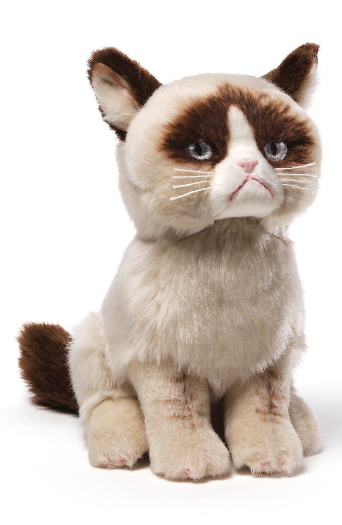 GUND, 'Grumpy Cat' Stuffed Animal, Alternate thumbnail 4, color, 000