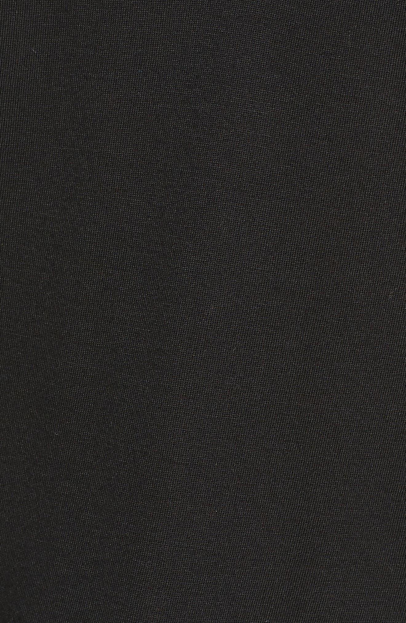 NATORI, 'Zen Floral' Pajama Set, Alternate thumbnail 6, color, BLACK
