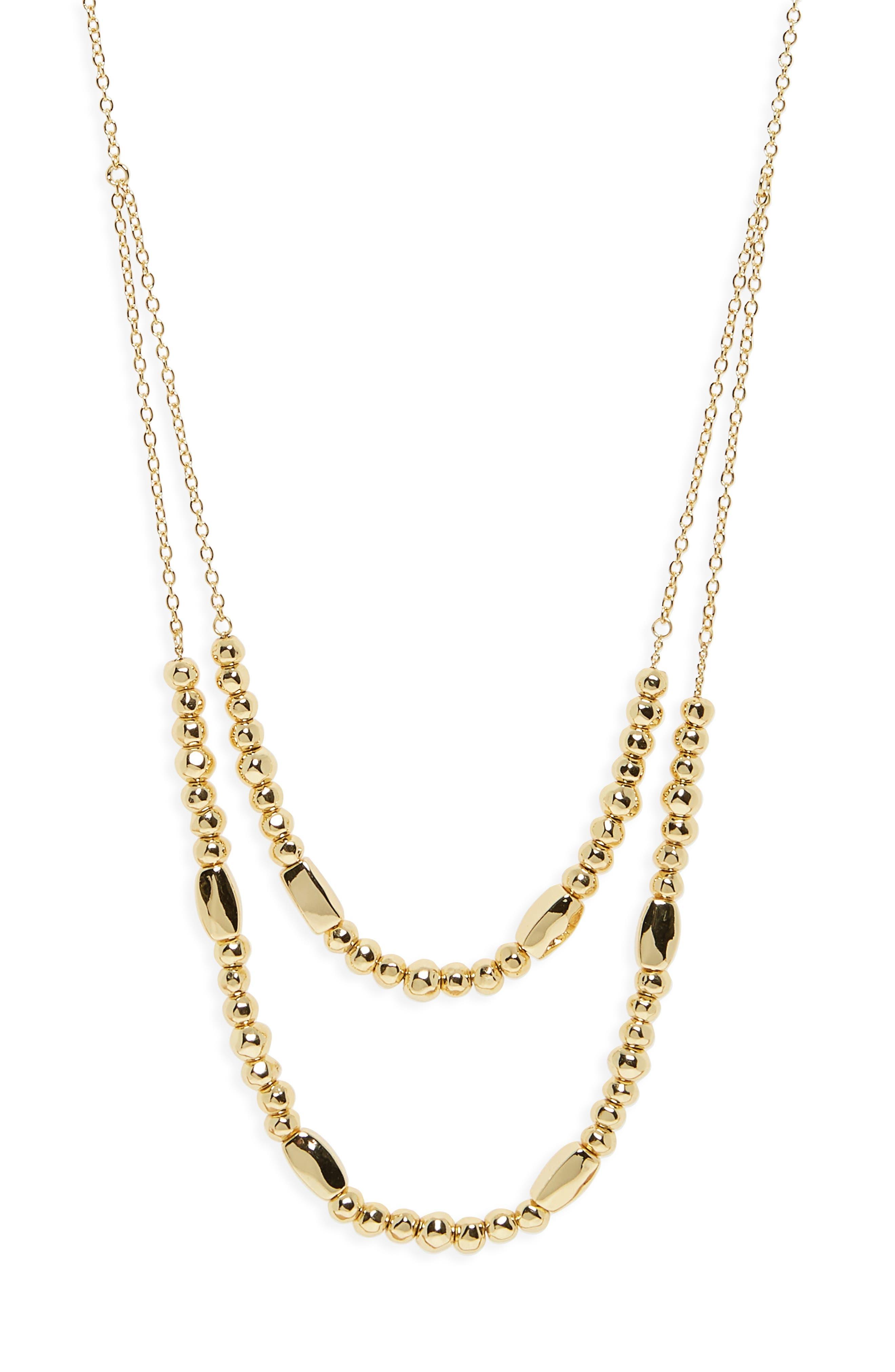 GORJANA, Kellen Adjustable Layer Necklace, Alternate thumbnail 2, color, GOLD