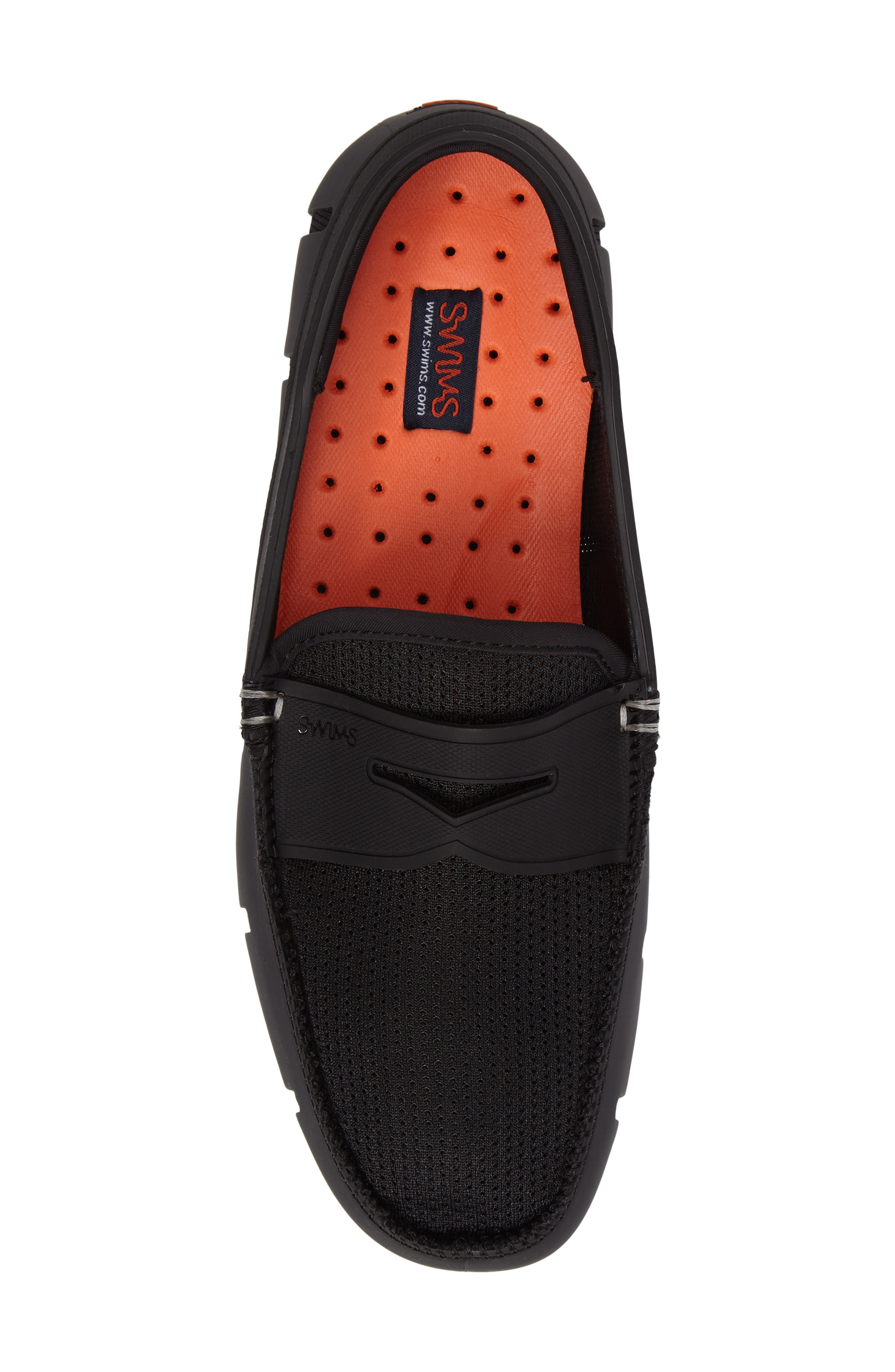 SWIMS, Penny Loafer, Alternate thumbnail 5, color, BLACK/BLACK