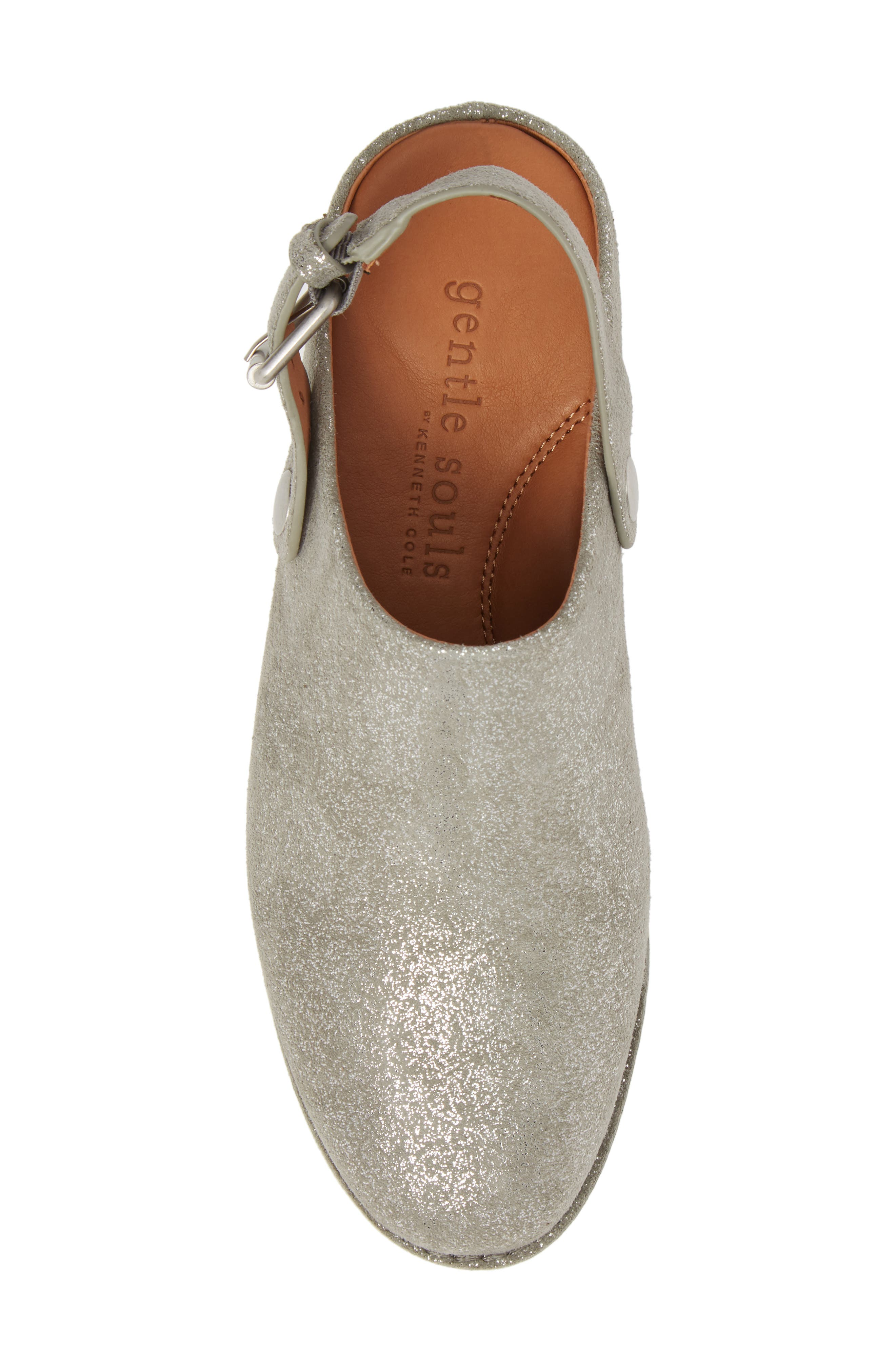GENTLE SOULS BY KENNETH COLE, Esther Convertible Wedge, Alternate thumbnail 5, color, LIGHT PEWTER METALLIC LEATHER