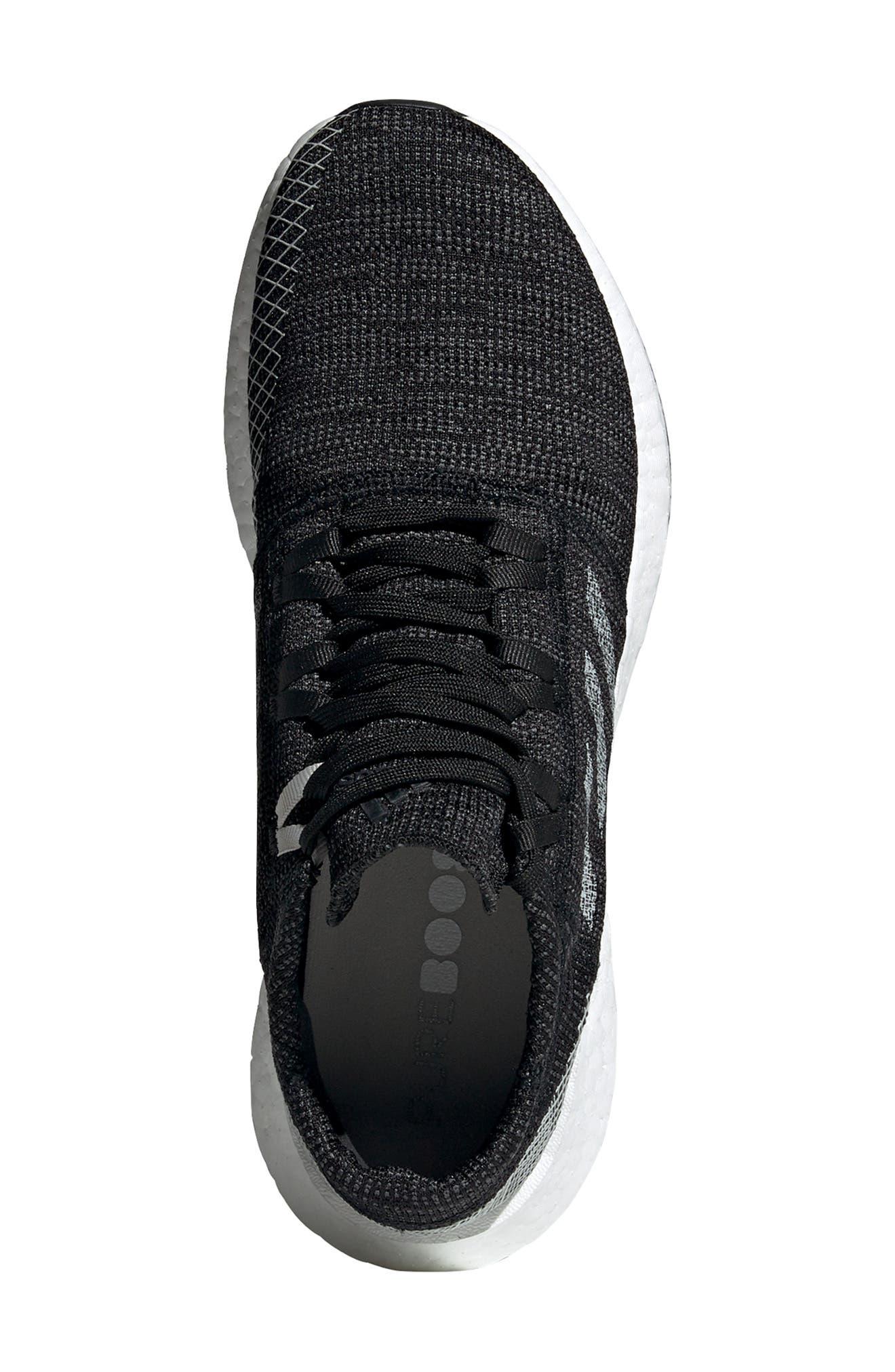 ADIDAS, PureBoost Go Running Shoe, Alternate thumbnail 4, color, CORE BLACK/ GREY