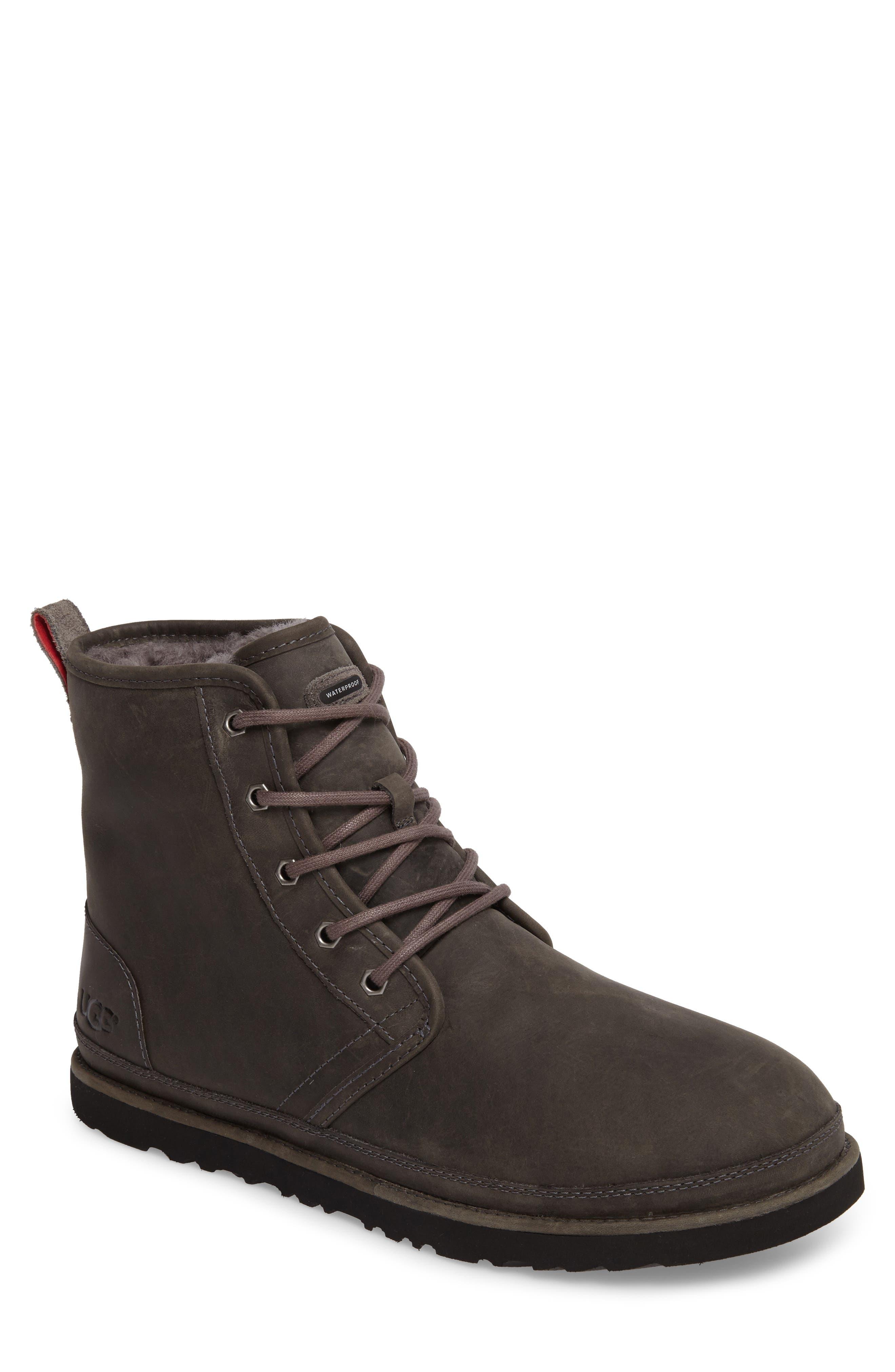 Ugg Harkley Plain Toe Waterproof Waterproof Boot, Grey