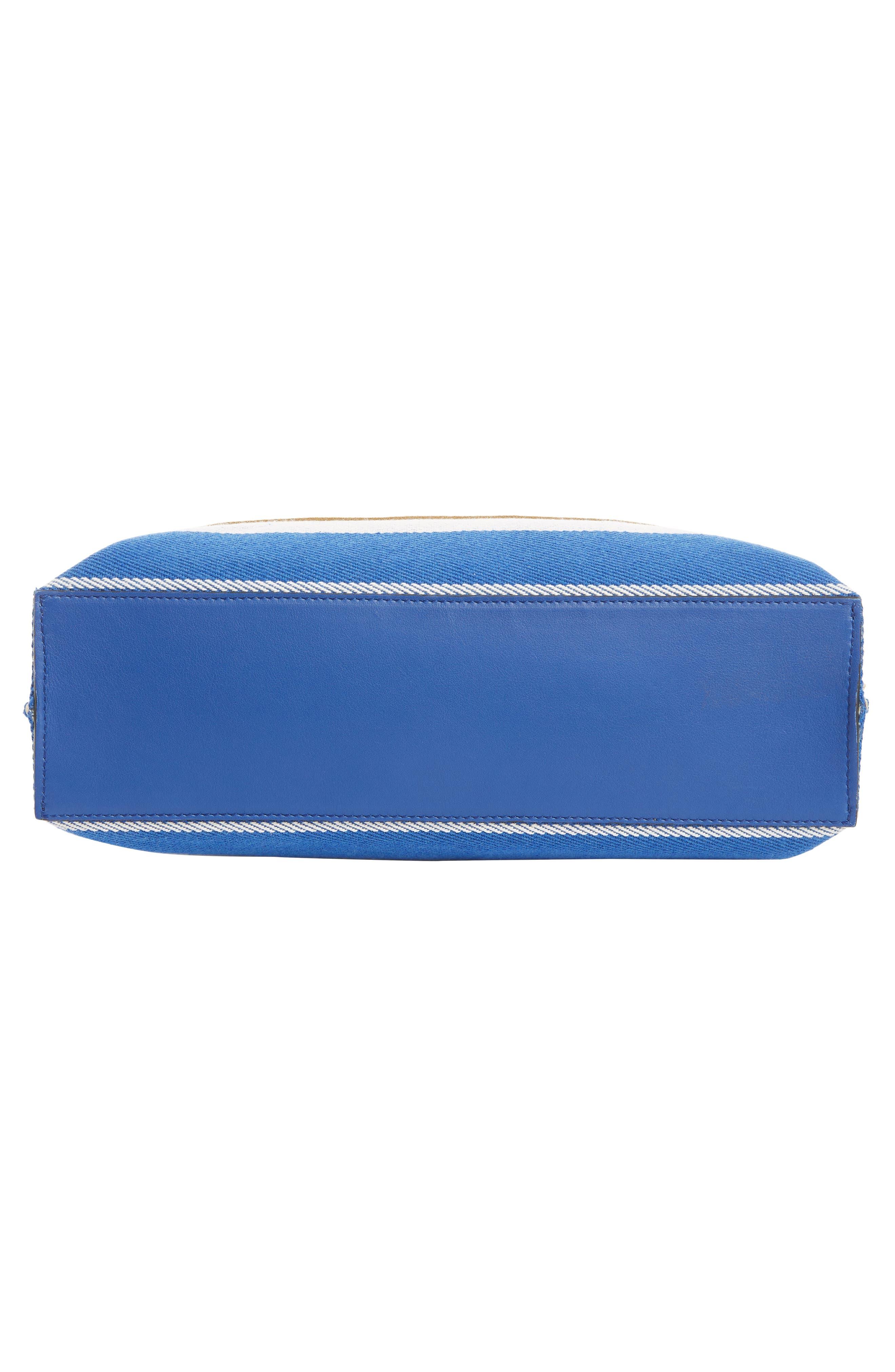 LOEWE, Stripe Twill Tote Bag, Alternate thumbnail 5, color, PACIFIC BLUE/MULTICOLOR