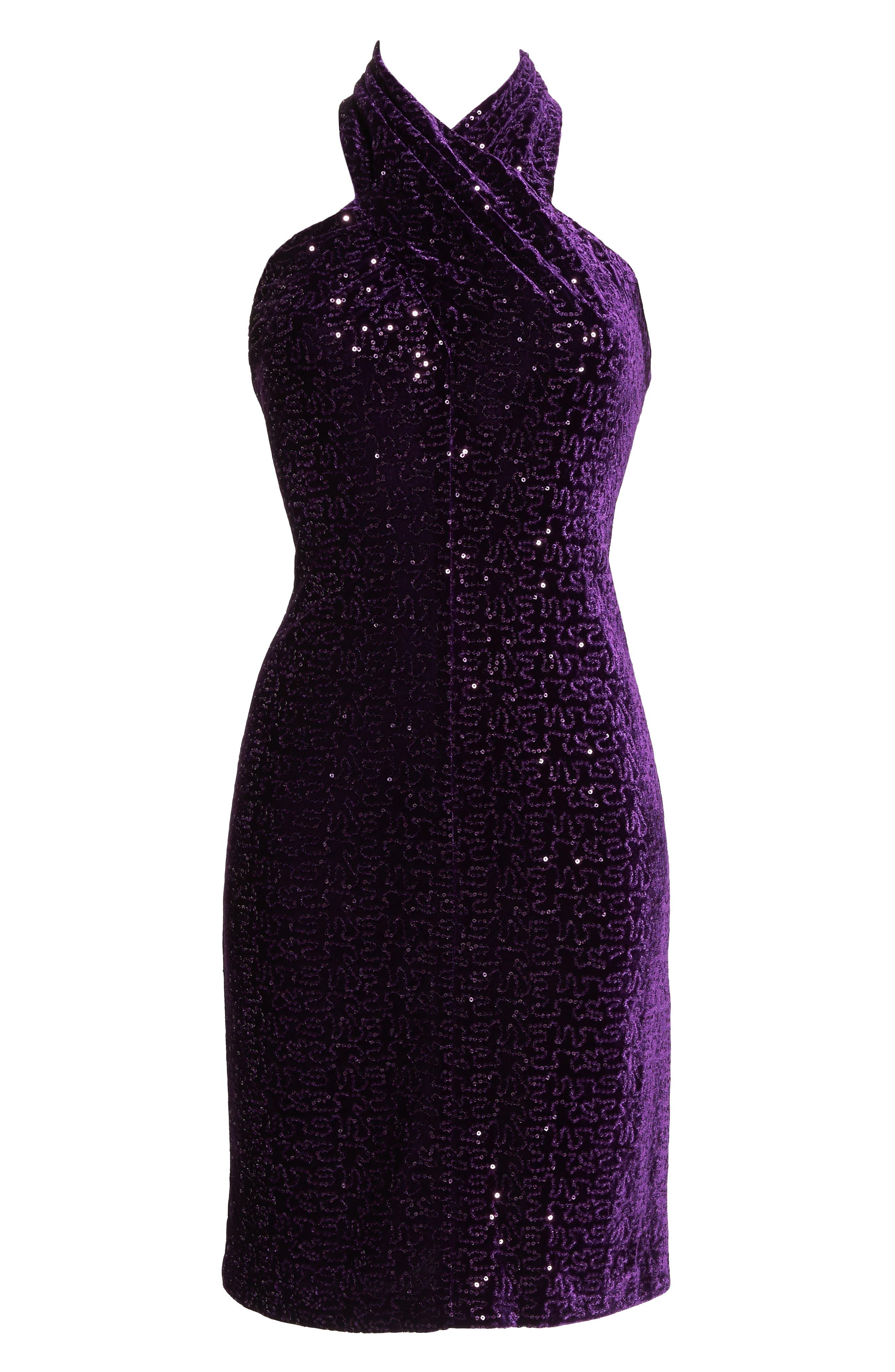 ELIZA J, Halter Sheath Dress, Alternate thumbnail 7, color, 506