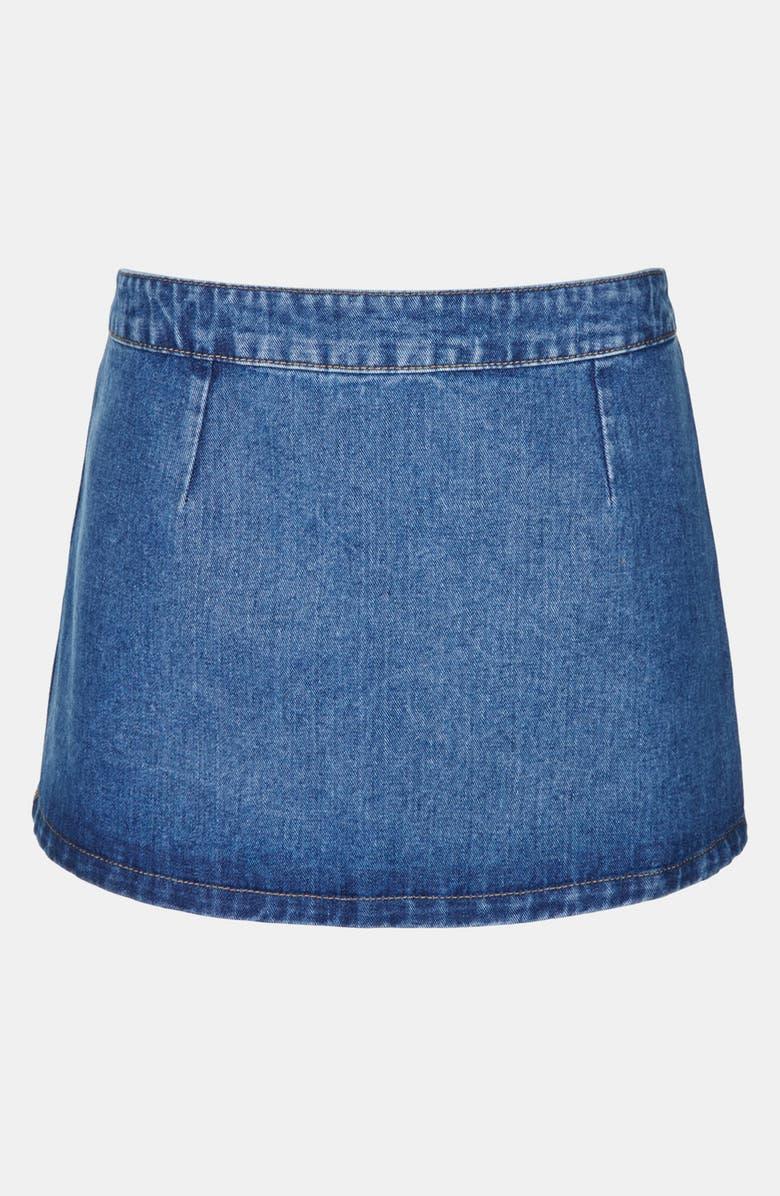 50c14dc6a70948 Topshop Moto 'Pelmet' Denim Skirt (Petite) | Nordstrom