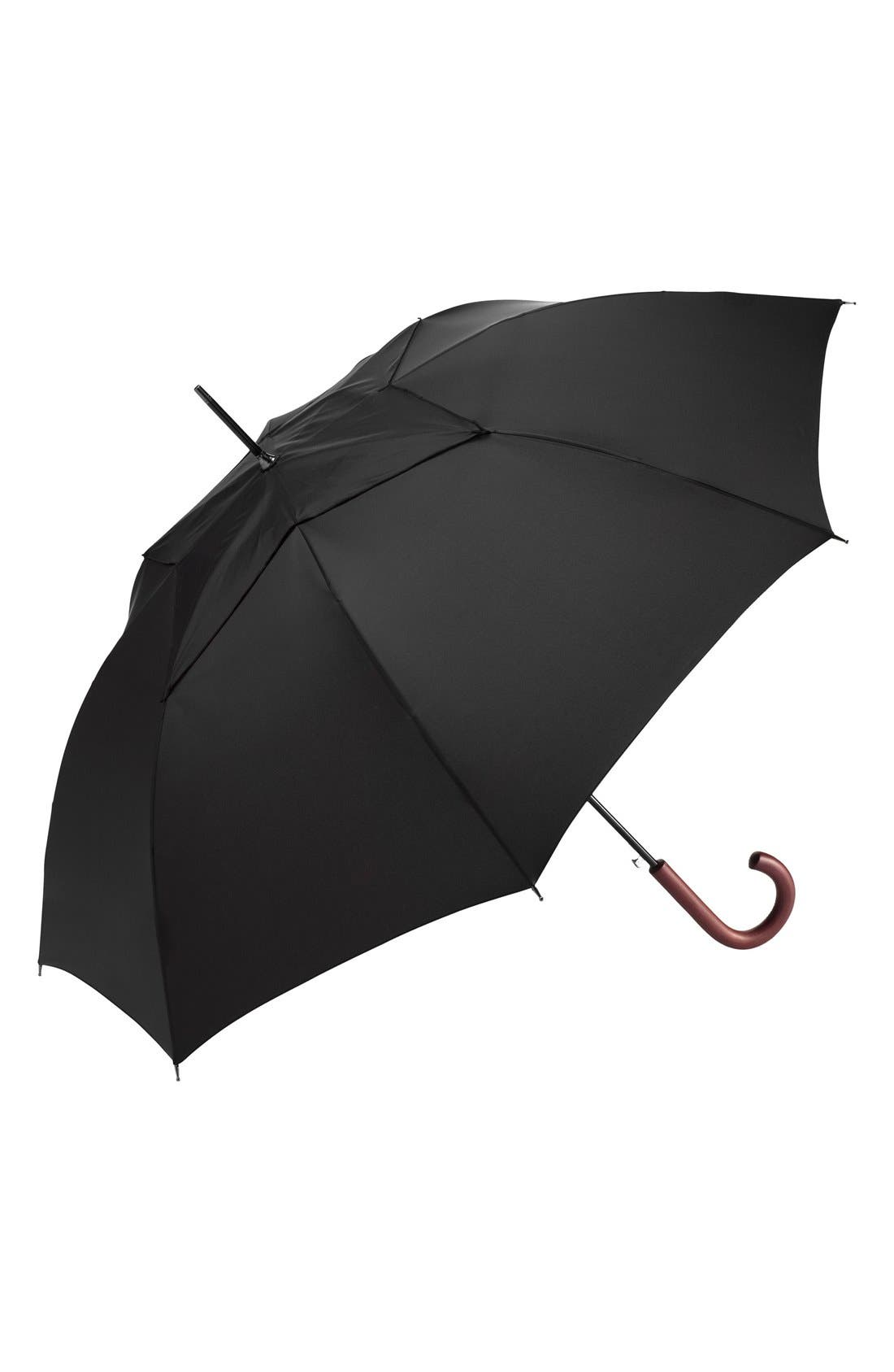 SHEDRAIN 'WindPro<sup>®</sup>' Auto Open & Close Umbrella, Main, color, BLACK