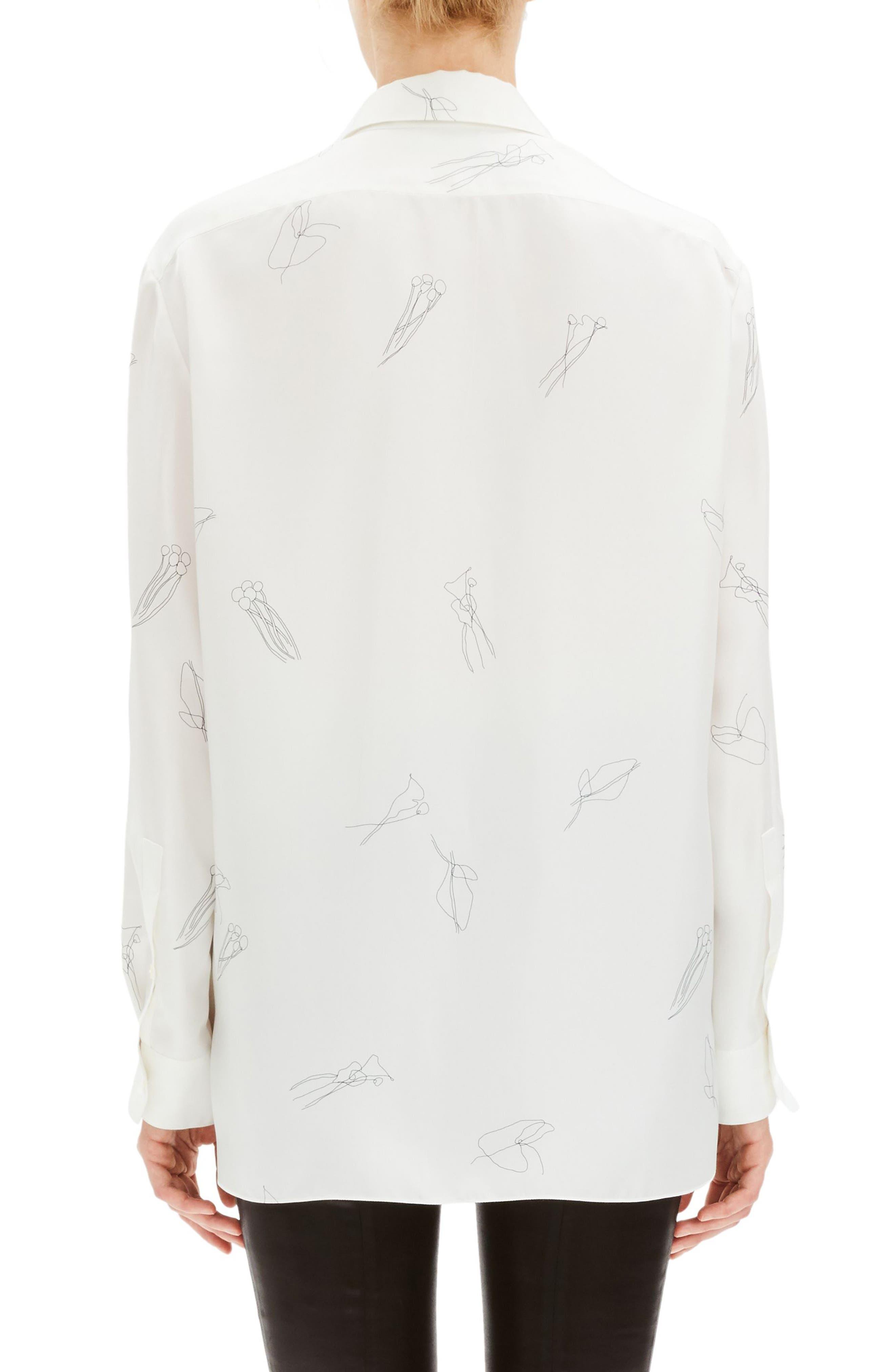 THEORY, Classic Menswear Silk Shirt, Alternate thumbnail 2, color, 199
