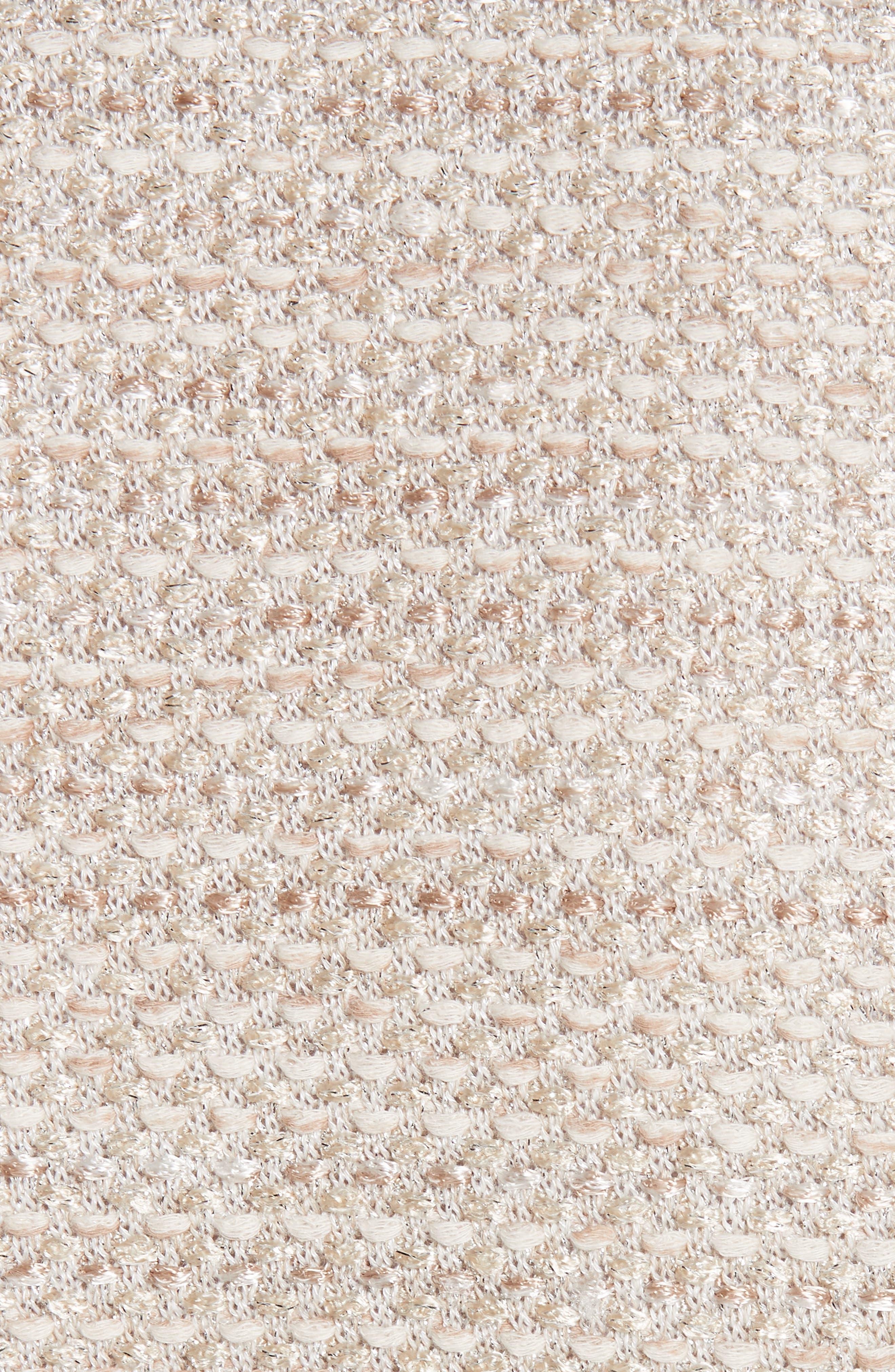 ST. JOHN COLLECTION, Antonella Knit Peplum Jacket, Alternate thumbnail 7, color, GOLD