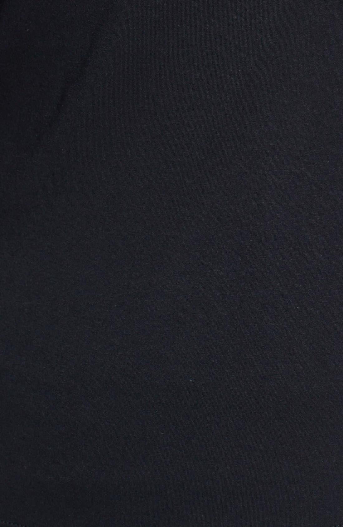 MATERNAL AMERICA, Maternity Tie Sleeve Top, Alternate thumbnail 8, color, BLACK