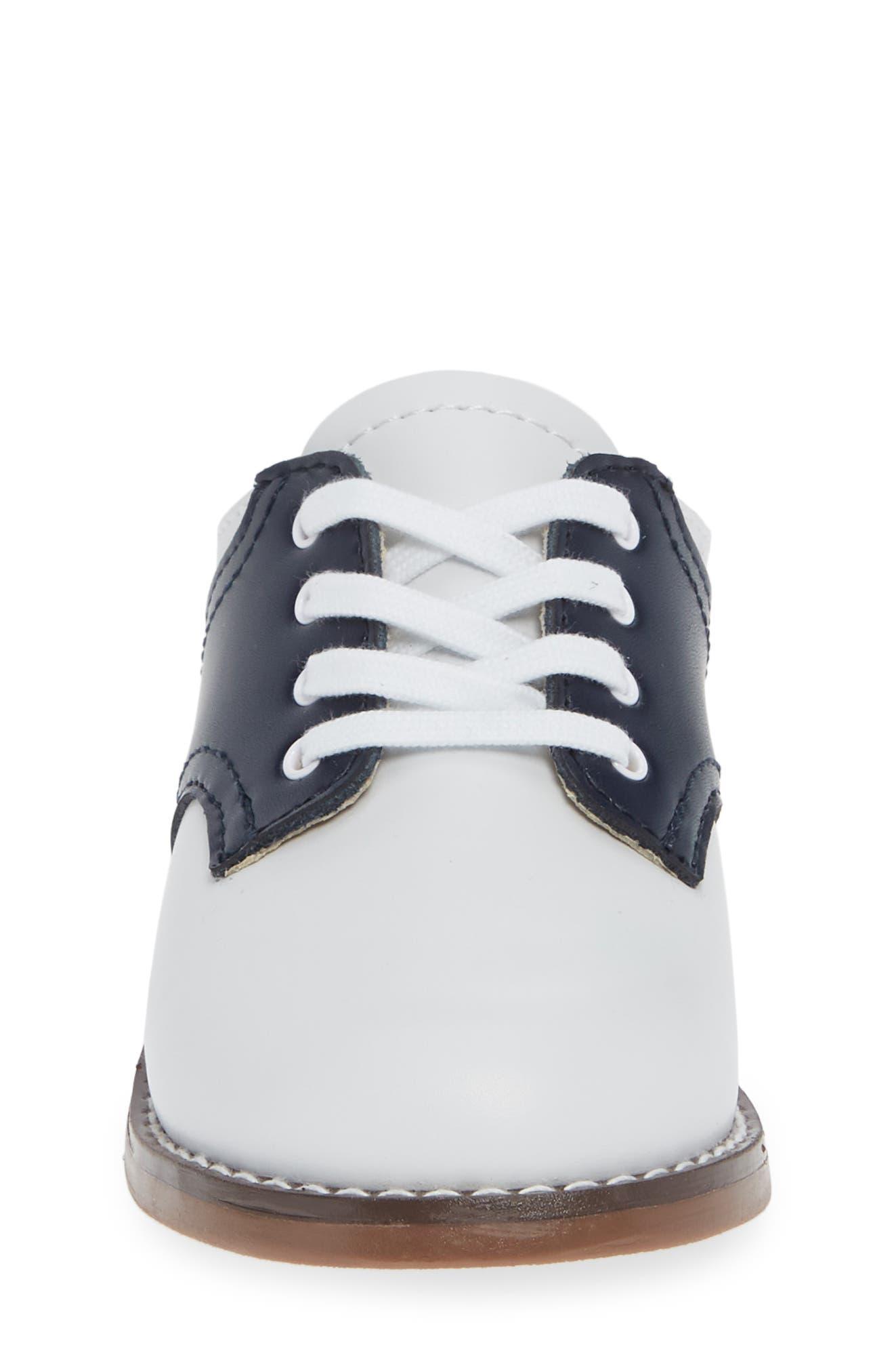 FOOTMATES, Cheer Oxford, Alternate thumbnail 4, color, WHITE/ NAVY