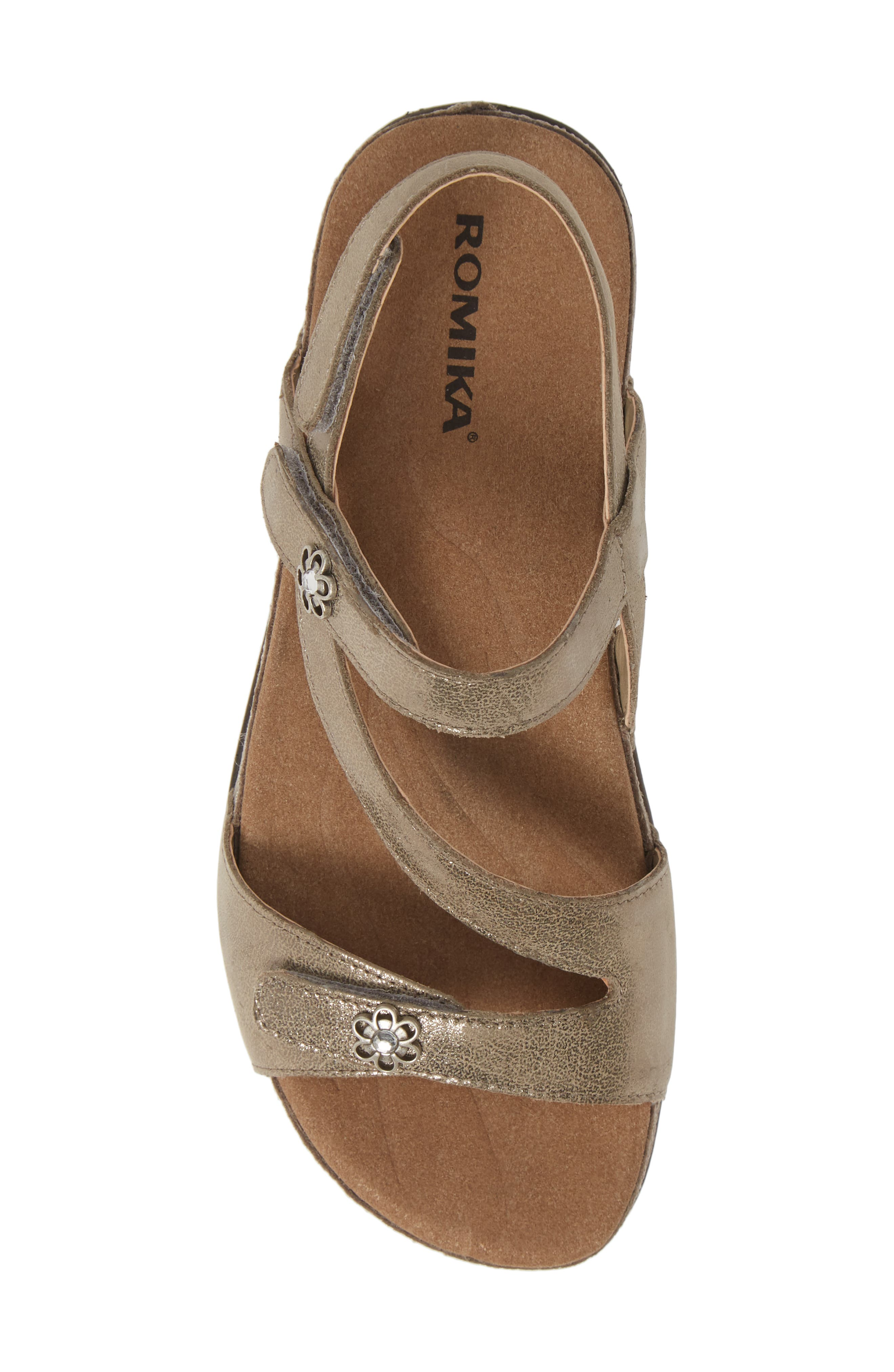 ROMIKA<SUP>®</SUP>, Fidschi 54 Sandal, Alternate thumbnail 5, color, BRONZE LEATHER