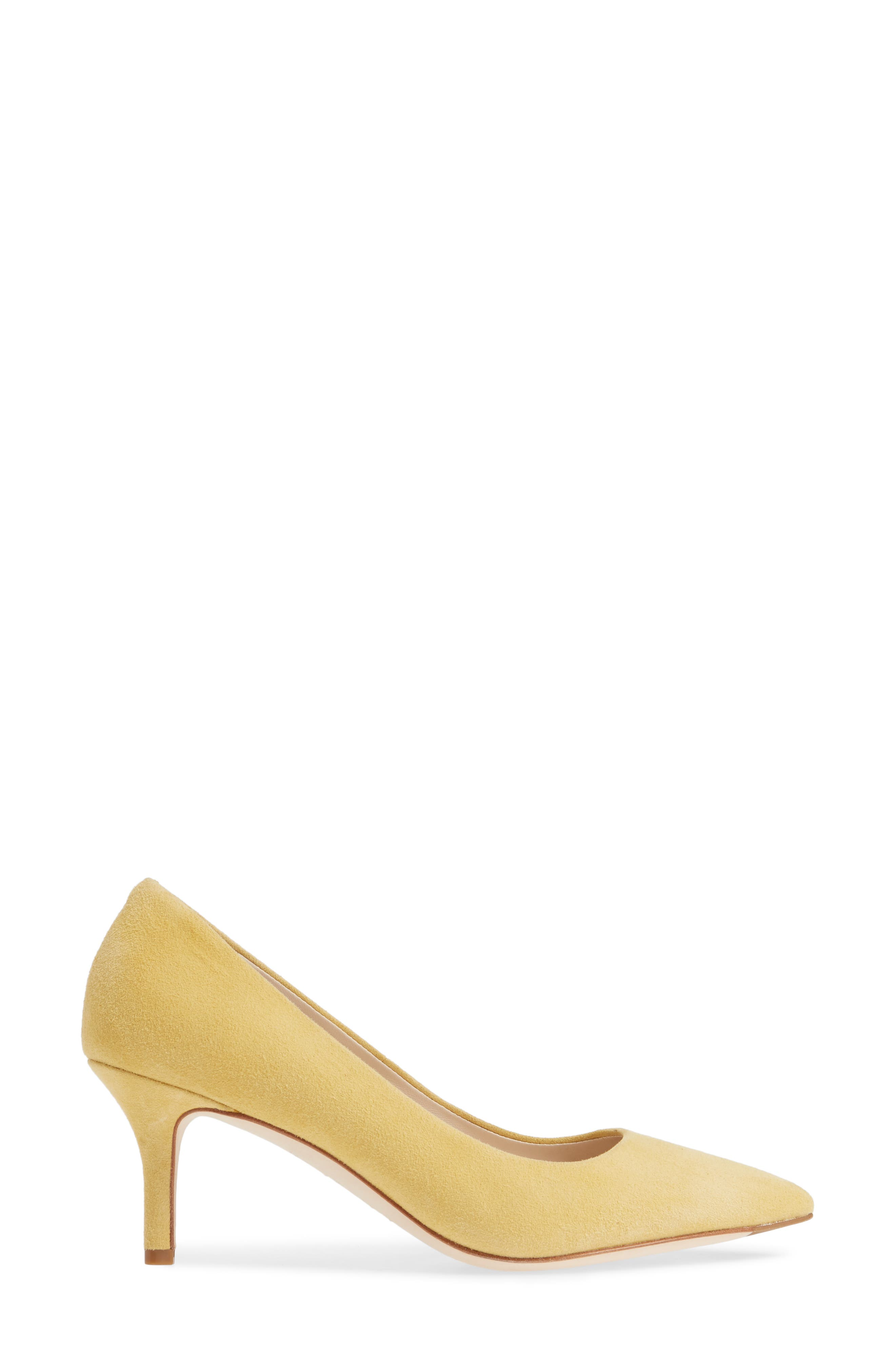 COLE HAAN, Vesta Pointy Toe Pump, Alternate thumbnail 3, color, SUNSET GOLD SUEDE