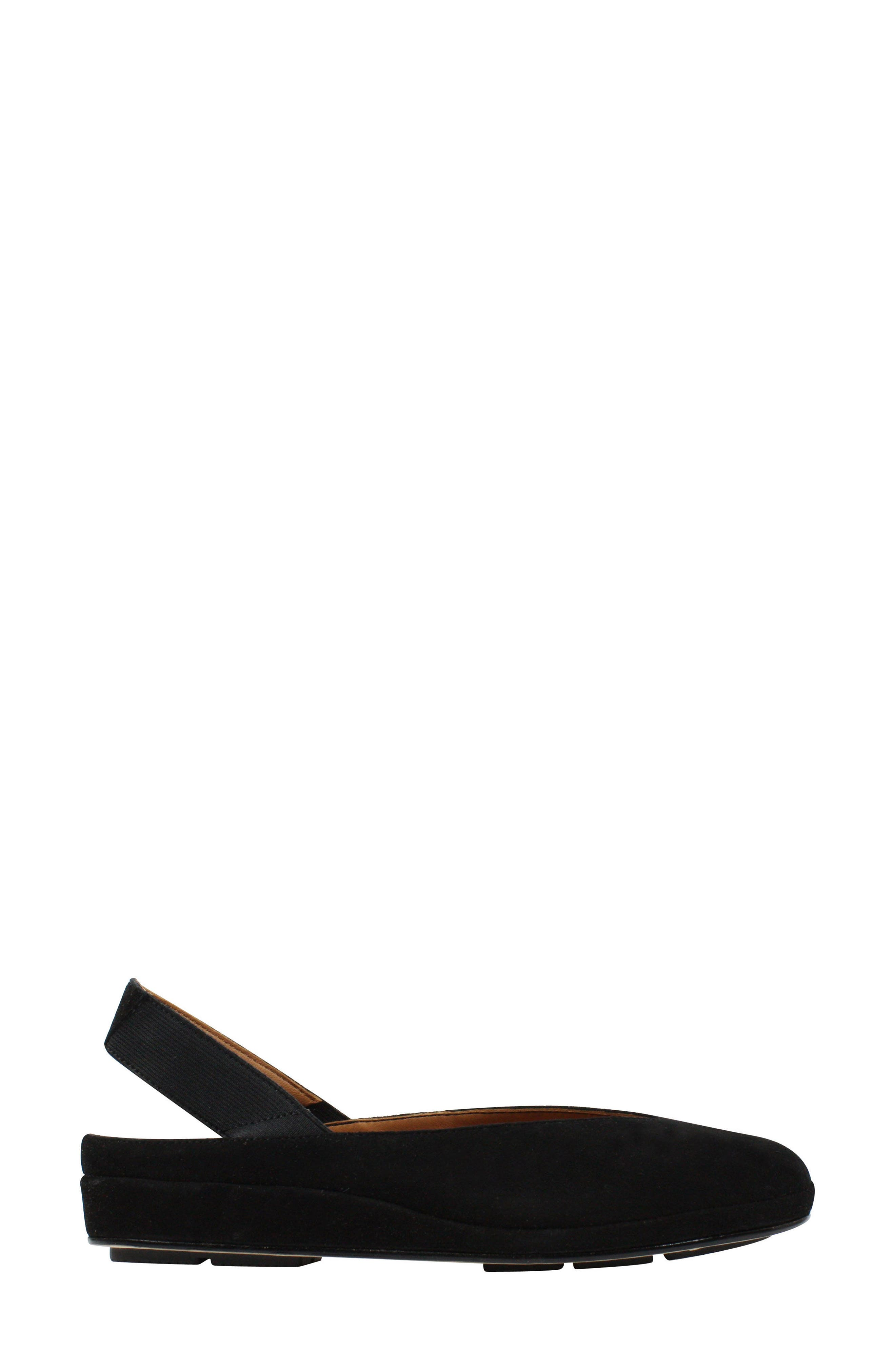 L'AMOUR DES PIEDS, 'Cypris' Slingback Wedge, Alternate thumbnail 2, color, BLACK SUEDE