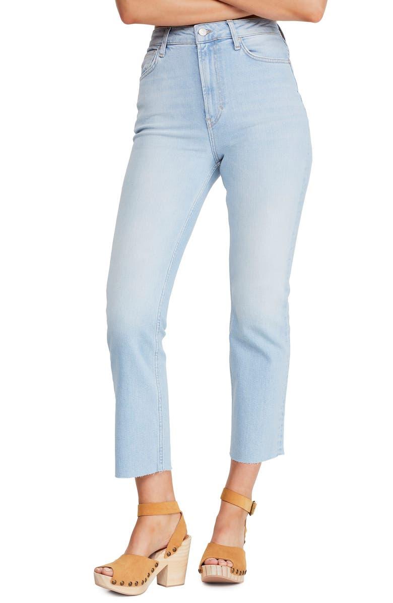 Free People Jeans HIGH WAIST SLIM STRAIGHT LEG JEANS