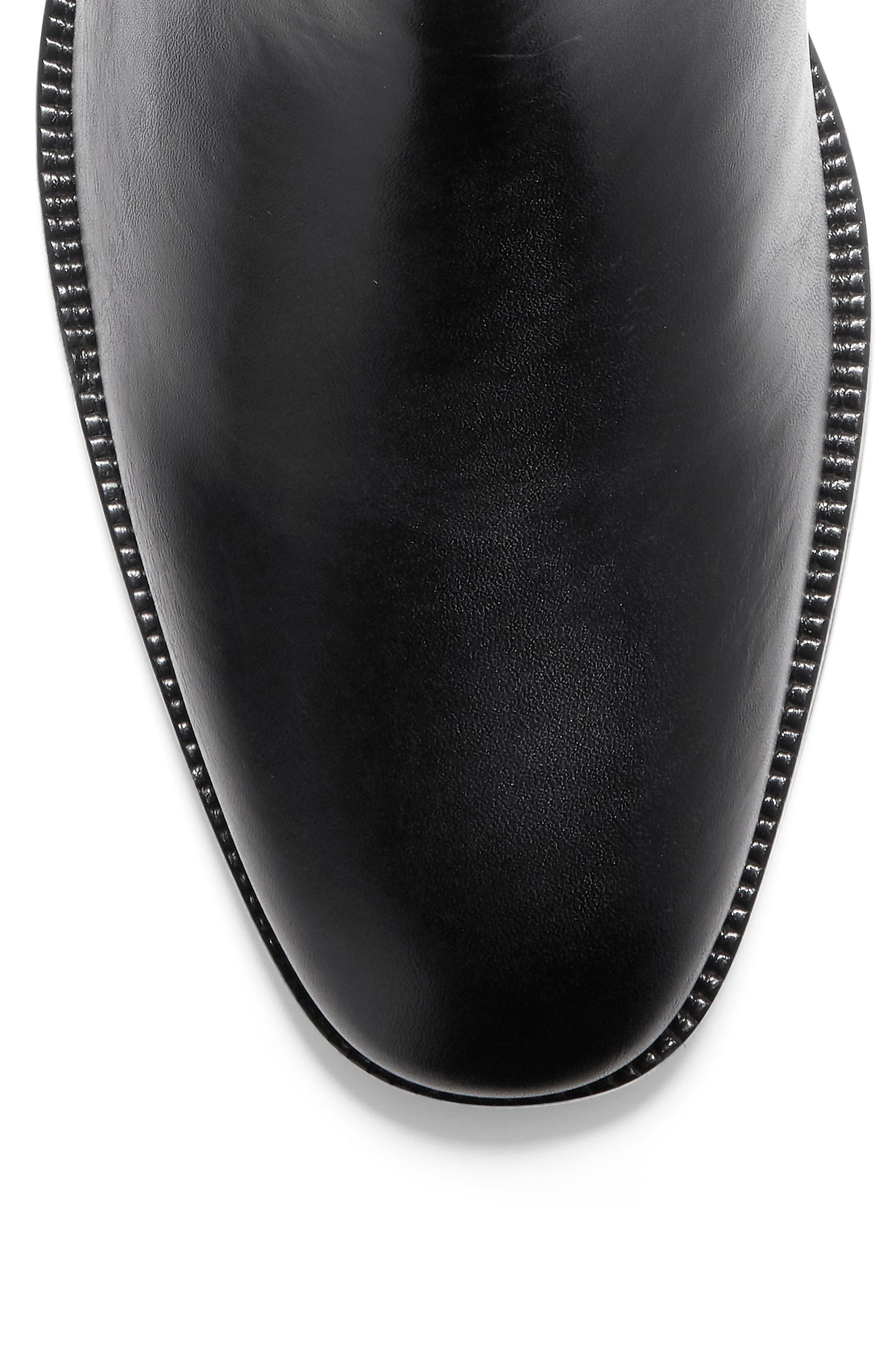 COLE HAAN, Wakefield Grand Chelsea Boot, Alternate thumbnail 6, color, BLACK LEATHER