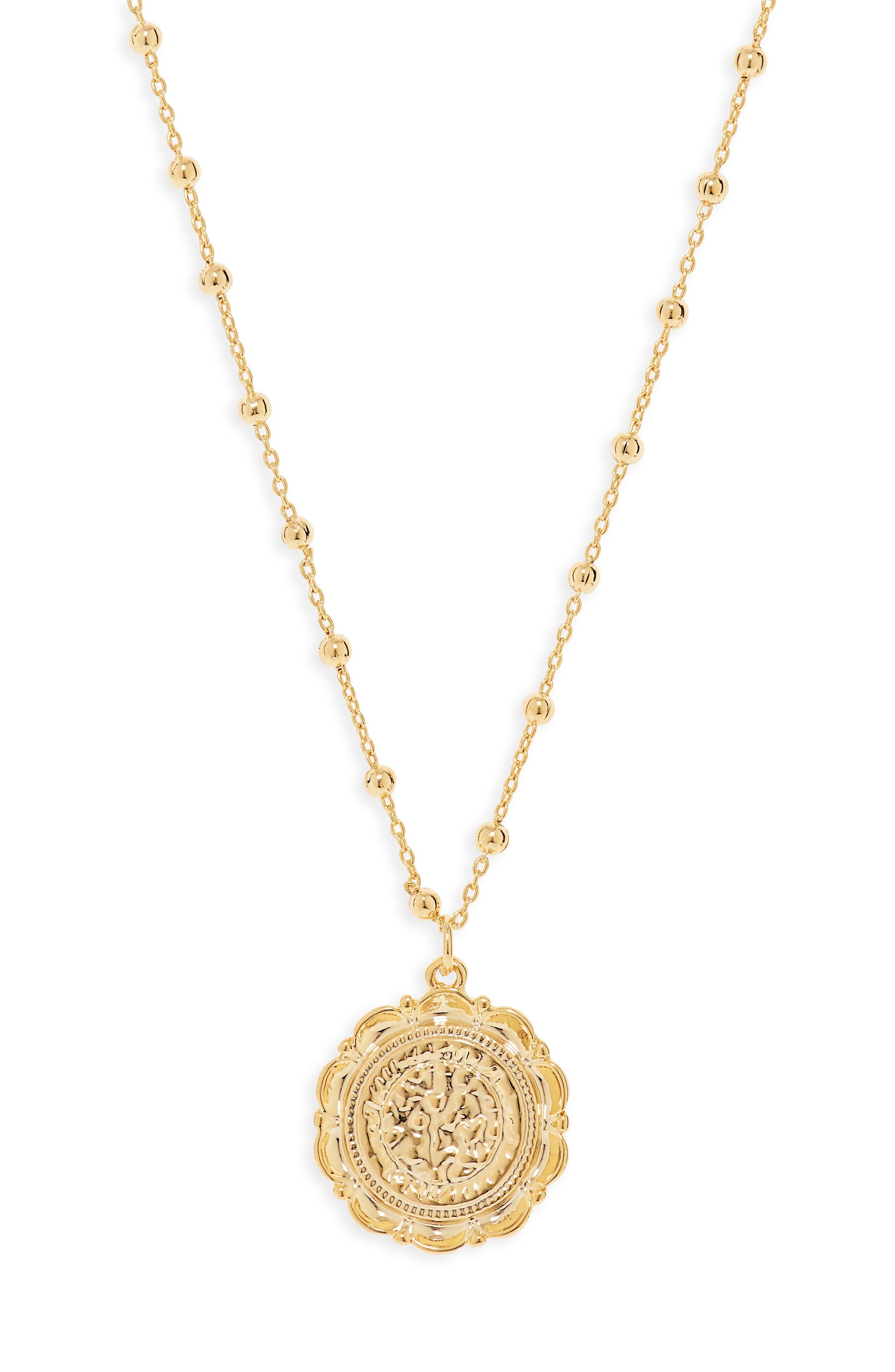 UNCOMMON JAMES BY KRISTIN CAVALLARI Atocha Coin Necklace, Main, color, GOLD