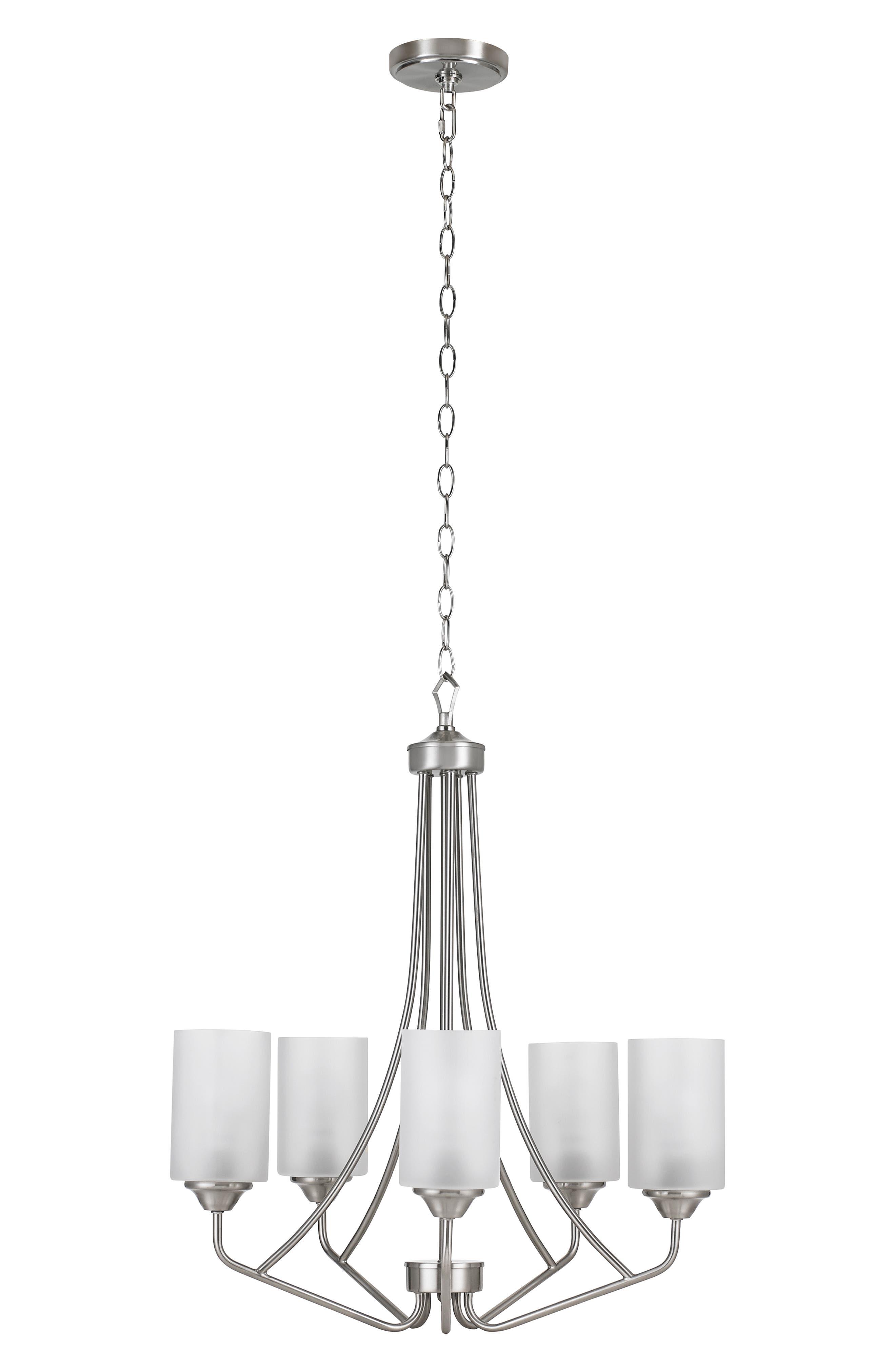 Jalexander Lighting Harper FiveLight Chandelier Size One Size  Metallic