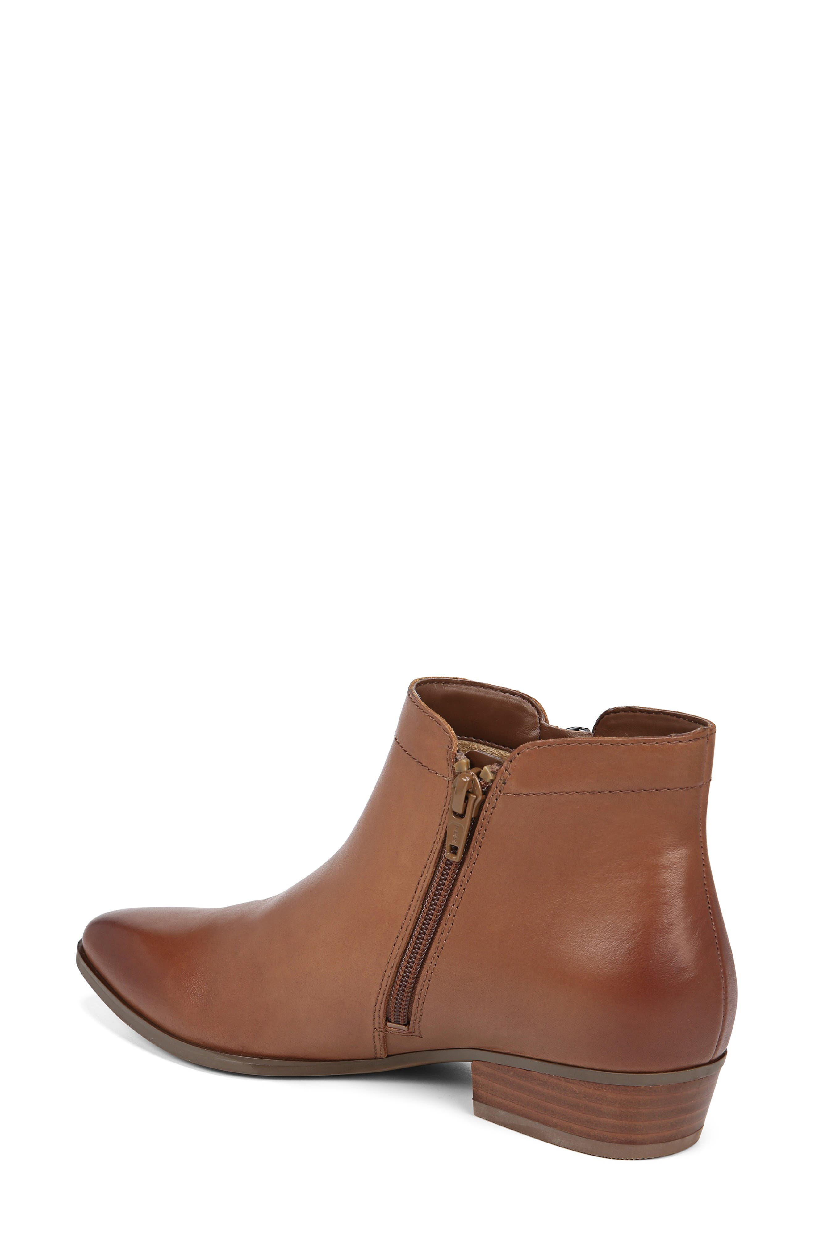 NATURALIZER, Blair Bootie, Alternate thumbnail 2, color, BANANA BREAD LEATHER
