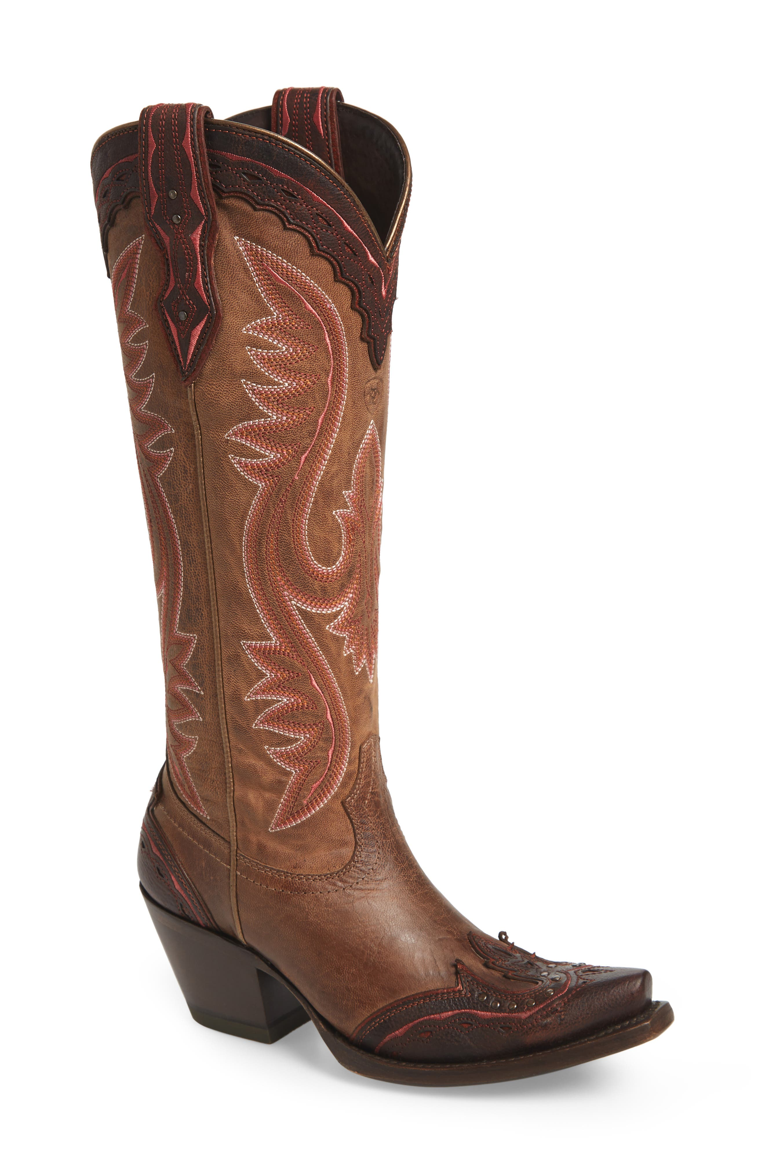 ARIAT, Adelina Western Boot, Main thumbnail 1, color, WEATHER TAN LEATHER