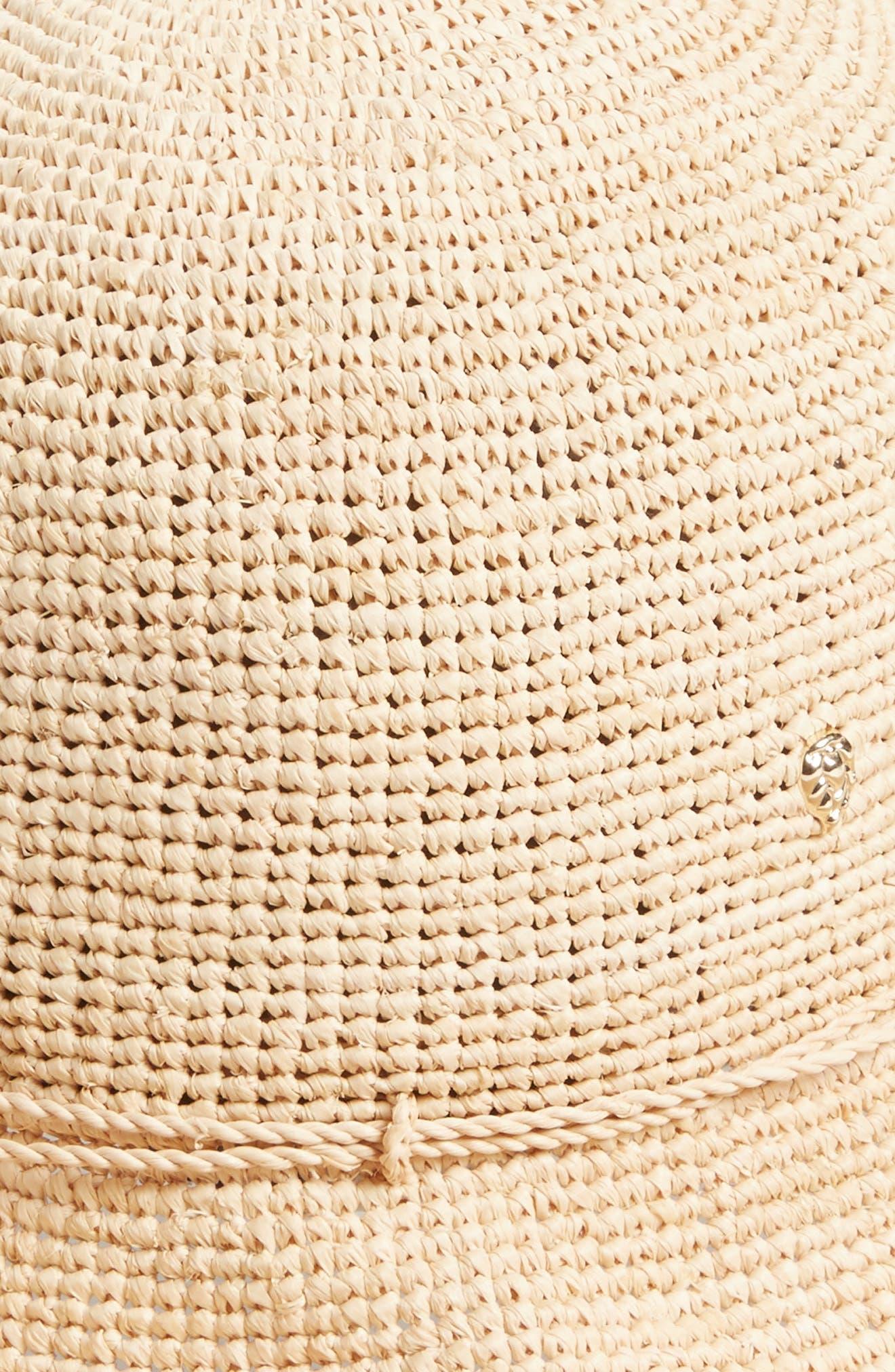 HELEN KAMINSKI, 'Provence 10' Packable Raffia Hat, Alternate thumbnail 2, color, NATURAL