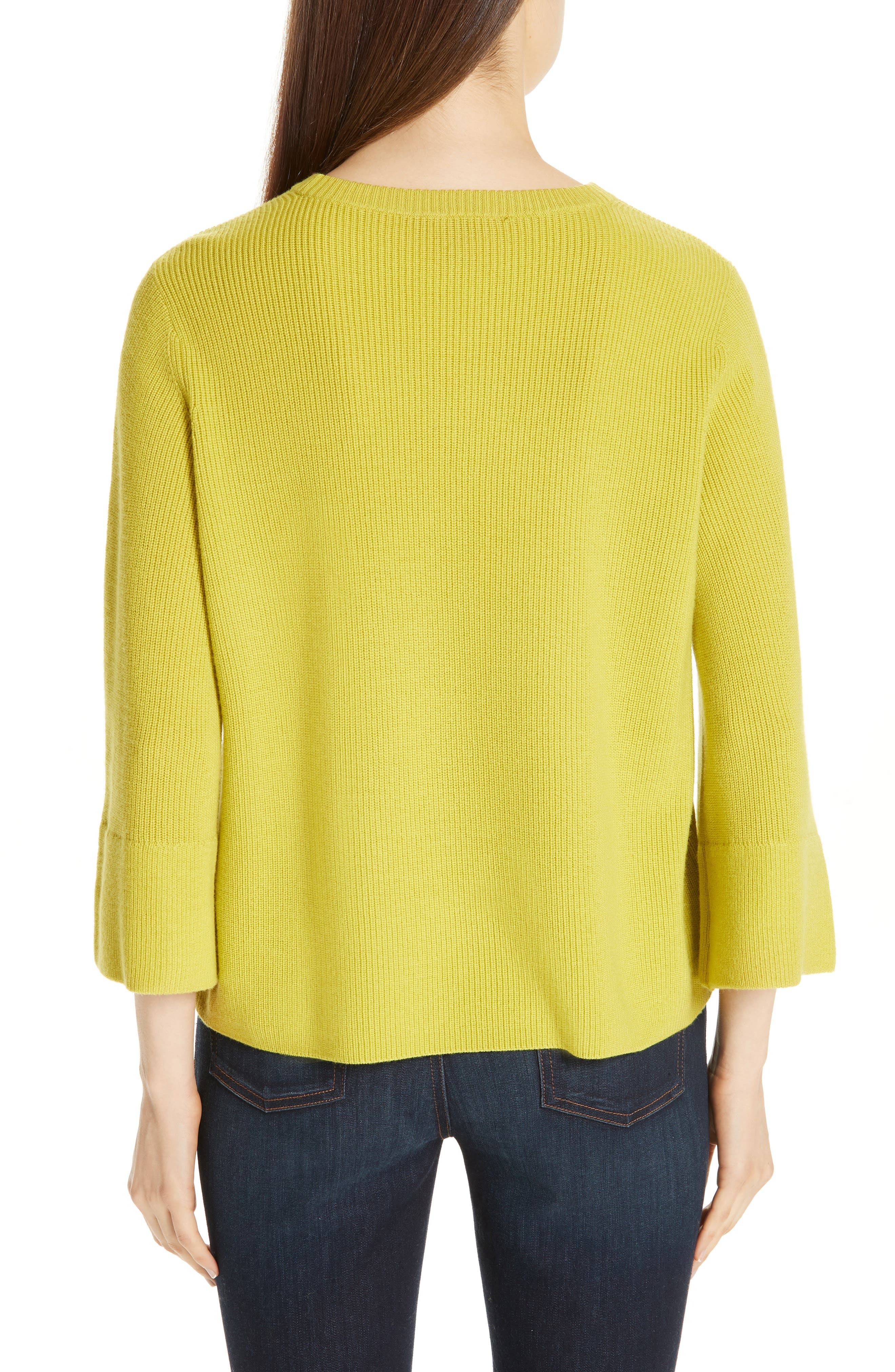 EILEEN FISHER, Three Quarter Sleeve Sweater, Alternate thumbnail 2, color, VERBENA