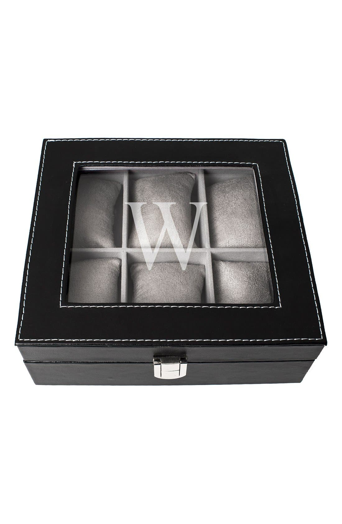 CATHY'S CONCEPTS Monogram Watch Box, Main, color, W