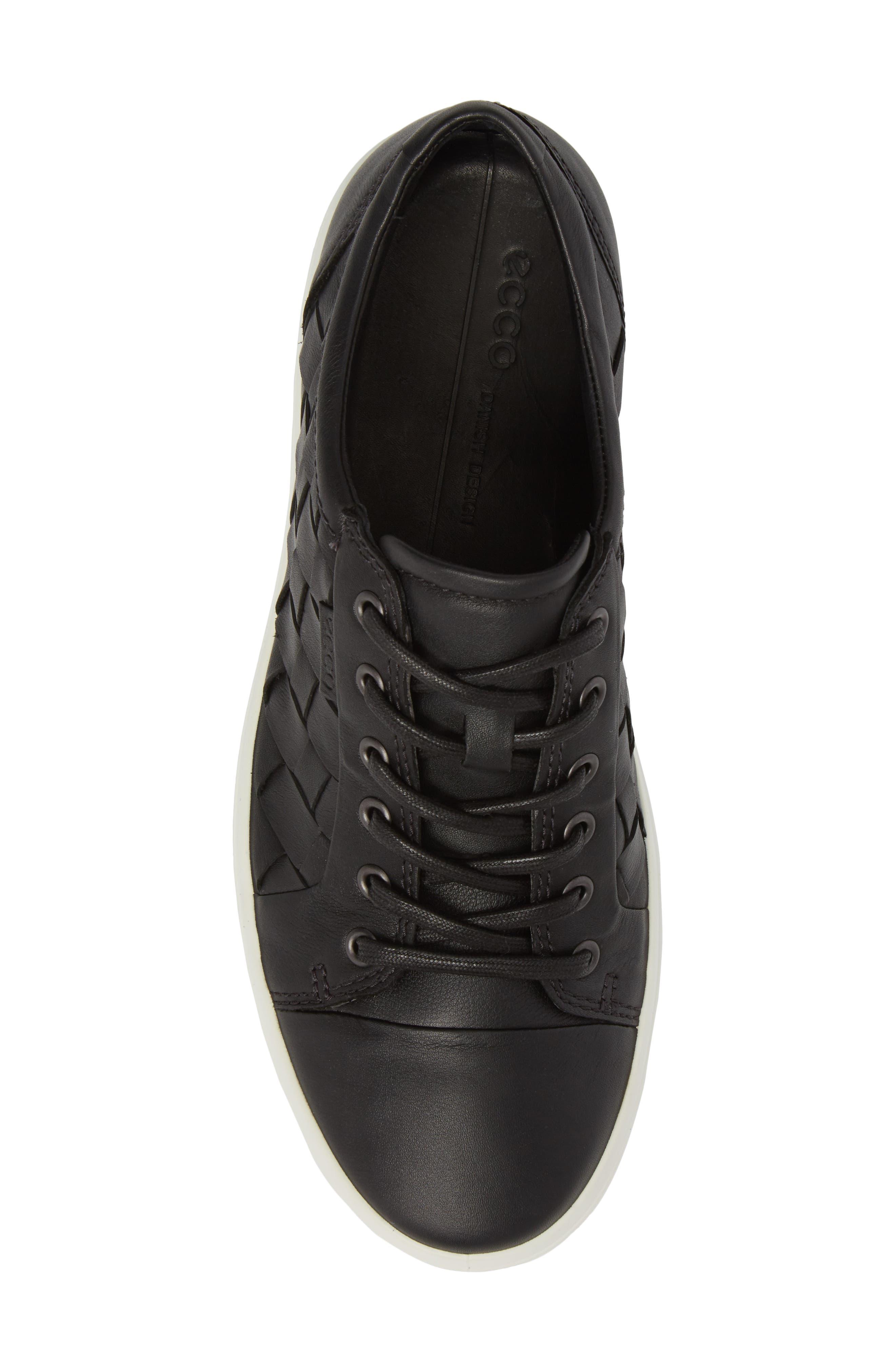 ECCO, Soft 7 Woven Sneaker, Alternate thumbnail 5, color, 009
