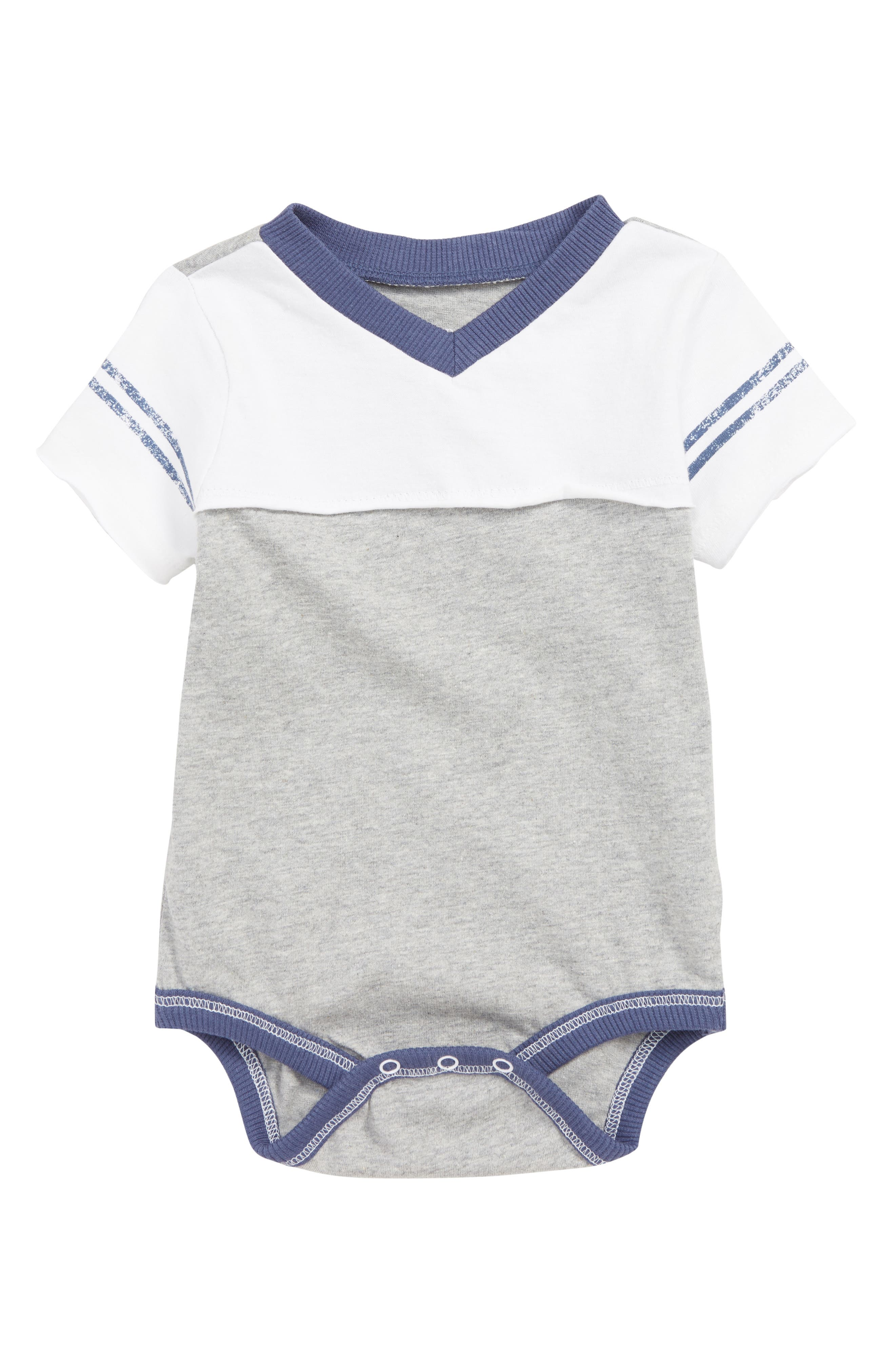 BURT'S BEES BABY, Colorblock Organic Cotton Bodysuit, Main thumbnail 1, color, 050