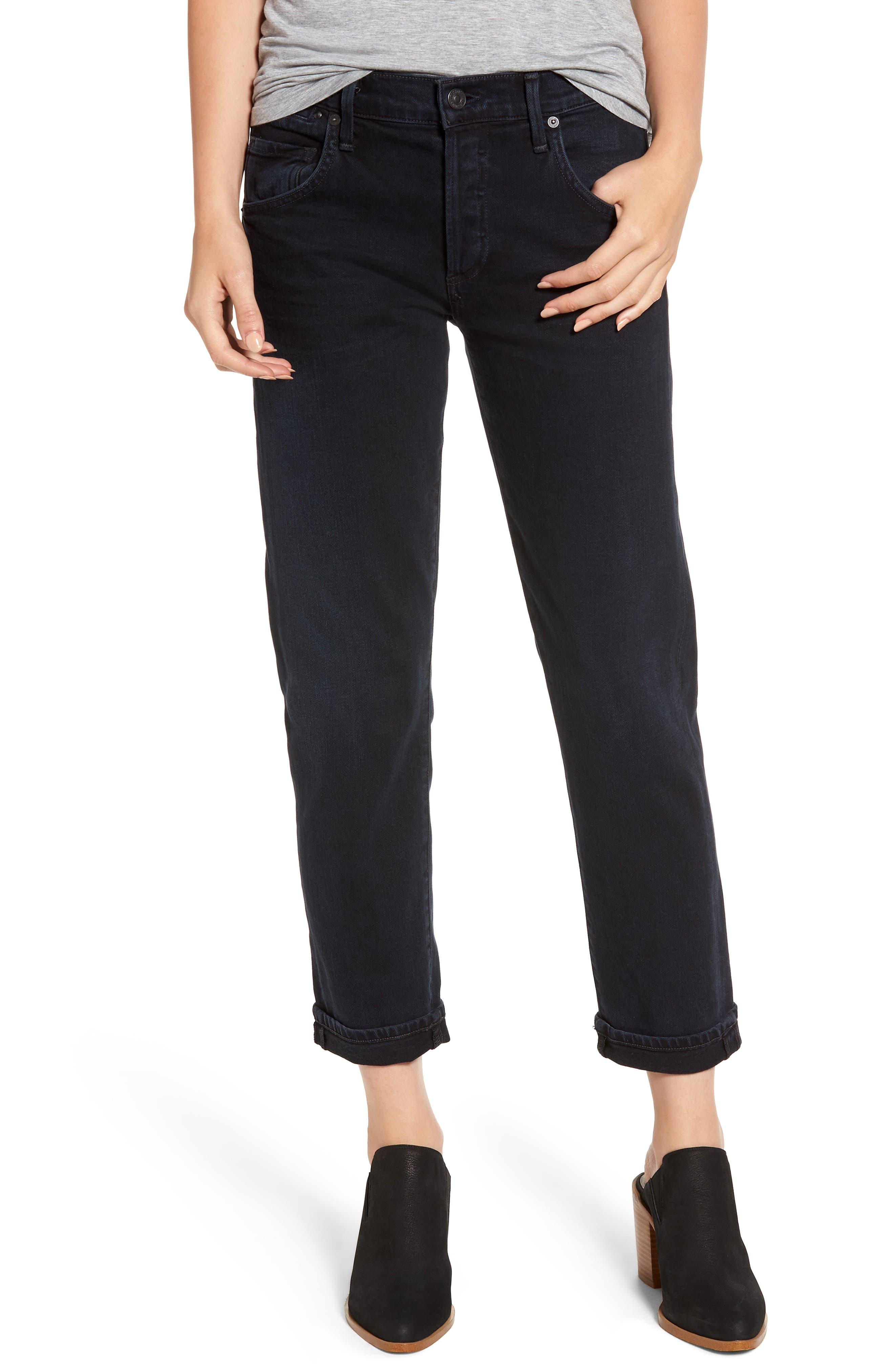 CITIZENS OF HUMANITY Emerson Slim Boyfriend Jeans, Main, color, NIGHT SHADE