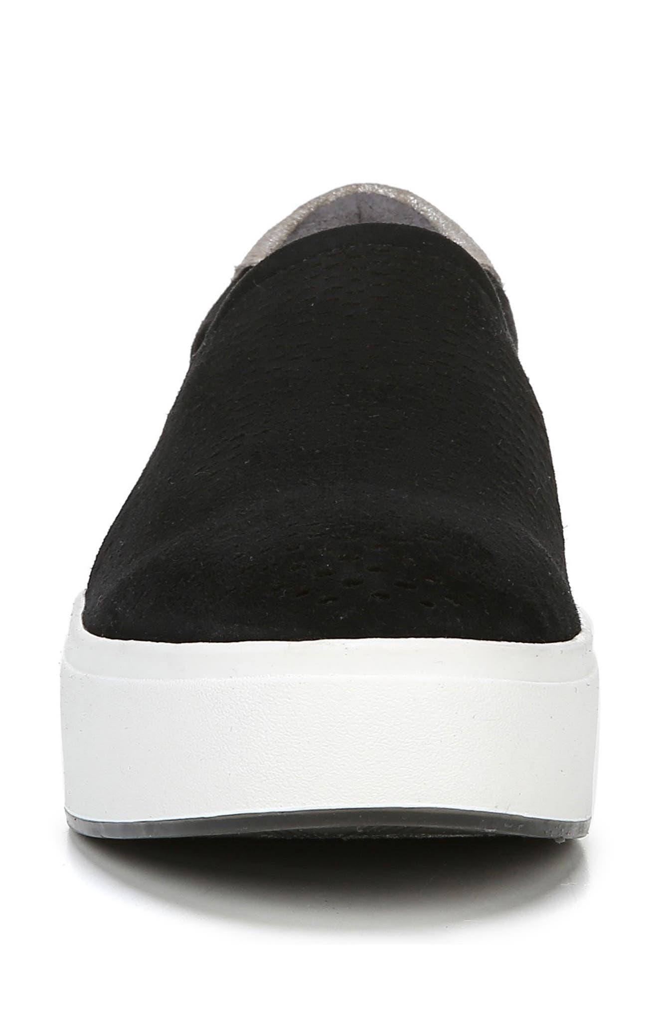 DR. SCHOLL'S, Abbot Lux Sneaker, Alternate thumbnail 4, color, BLACK SUEDE