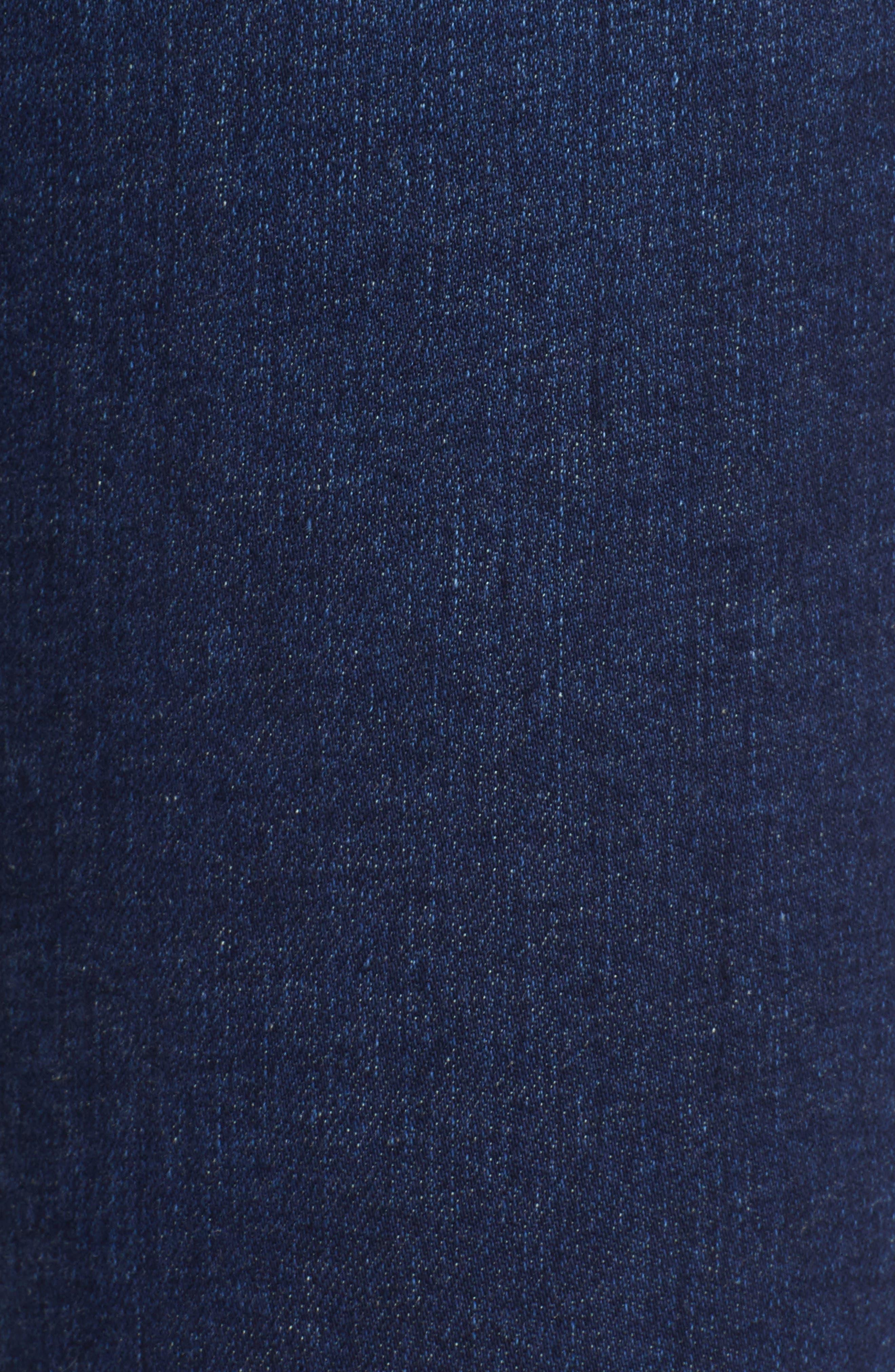 FRAME, Ali High Waist Crop Cigarette Skinny Jeans, Alternate thumbnail 5, color, MANO