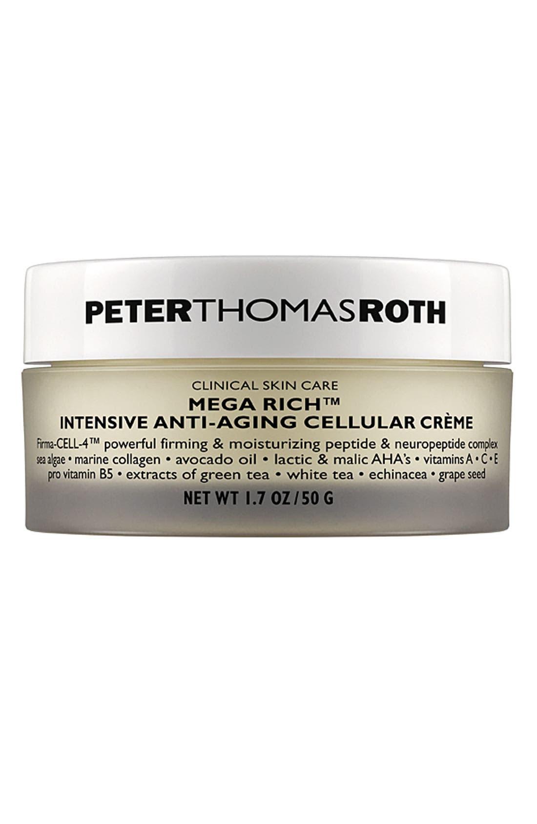 PETER THOMAS ROTH, Mega Rich Intensive Anti-Aging Cellular Crème, Main thumbnail 1, color, NO COLOR