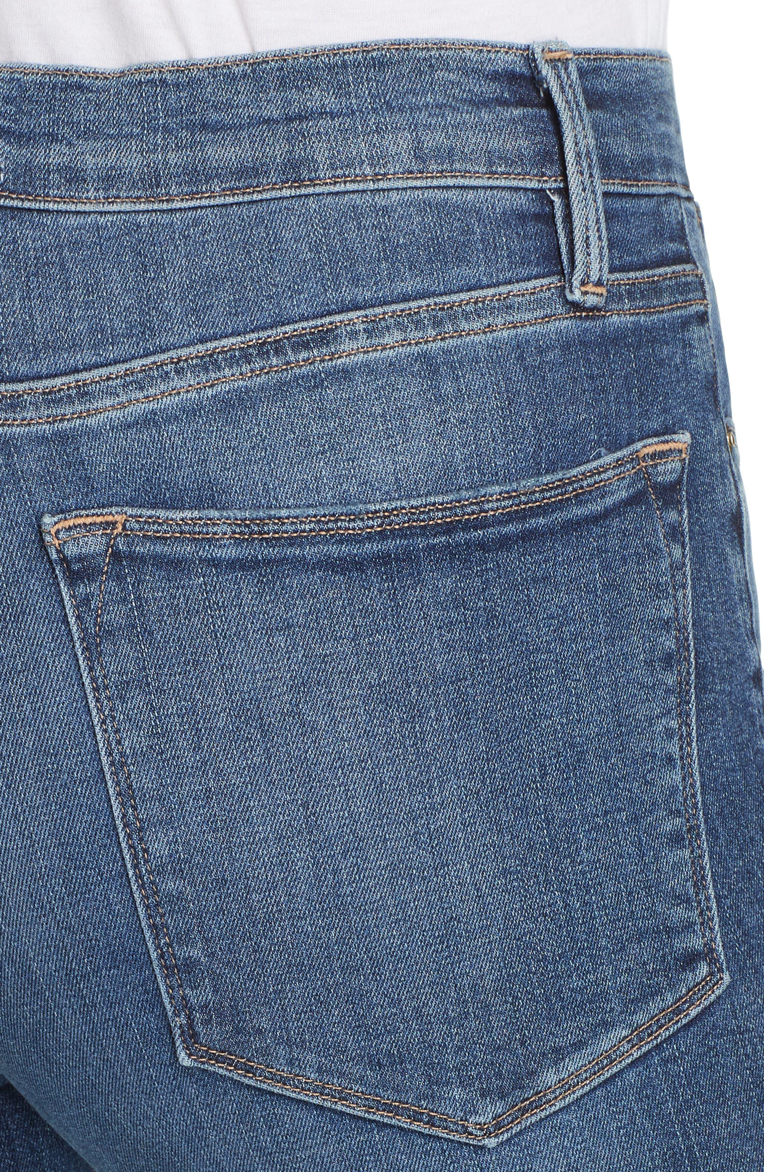 FRAME, Le High Flare Jeans, Alternate thumbnail 6, color, CRISTALLO