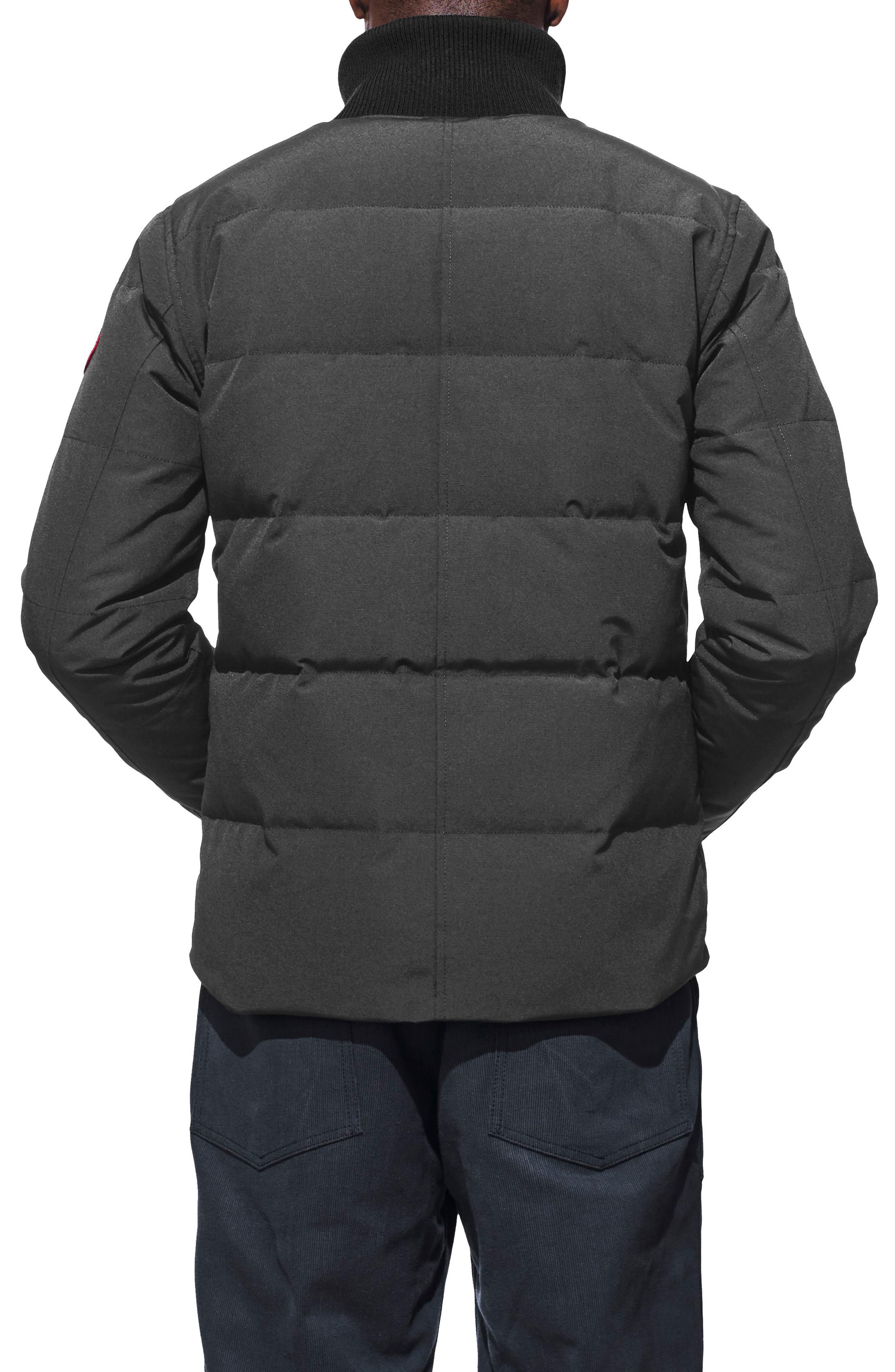 CANADA GOOSE, 'Woolford' Slim Fit Down Bomber Jacket, Alternate thumbnail 2, color, GRAPHITE