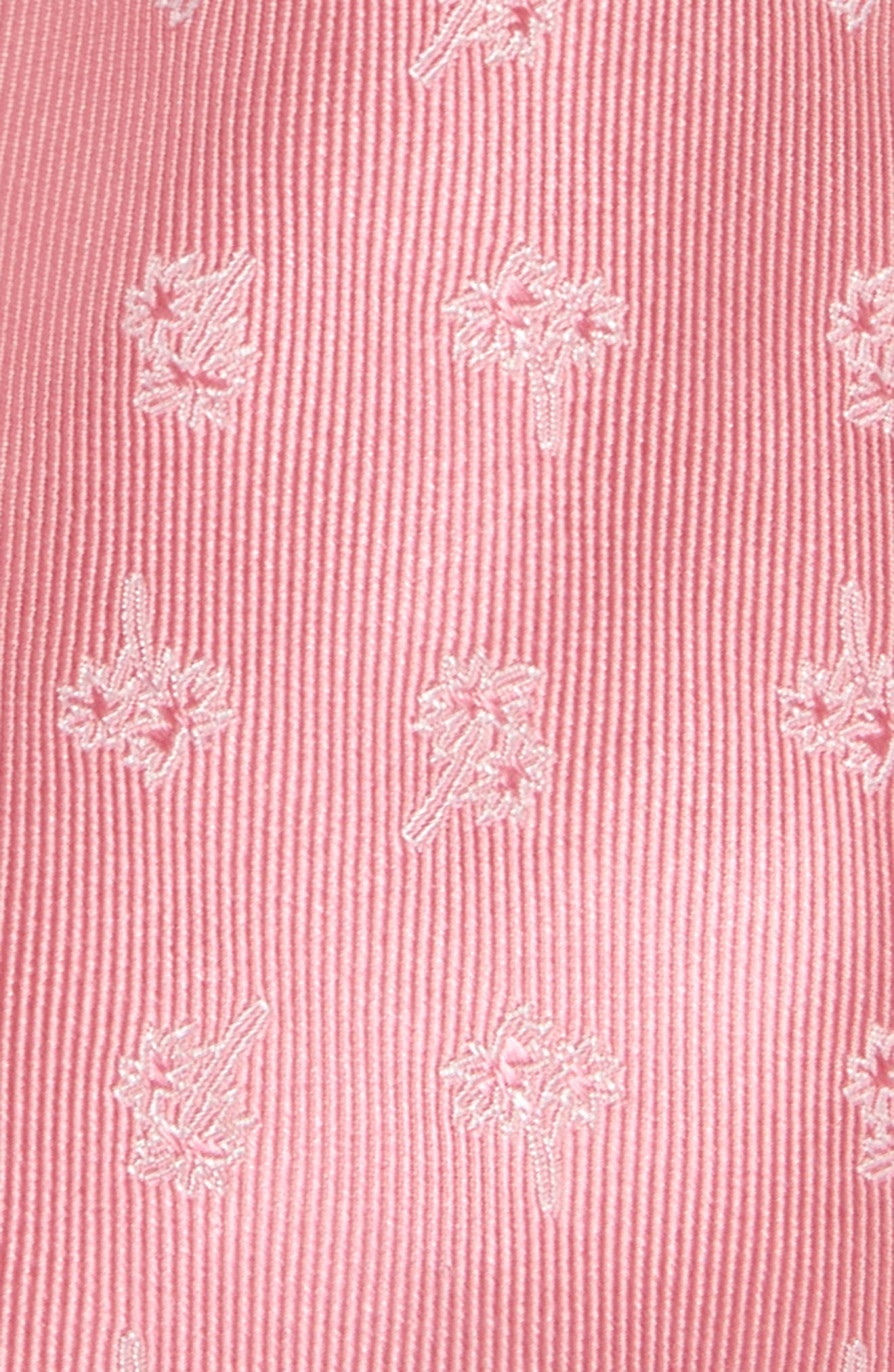 NORDSTROM, Palm Trees Silk Tie, Alternate thumbnail 2, color, PINK