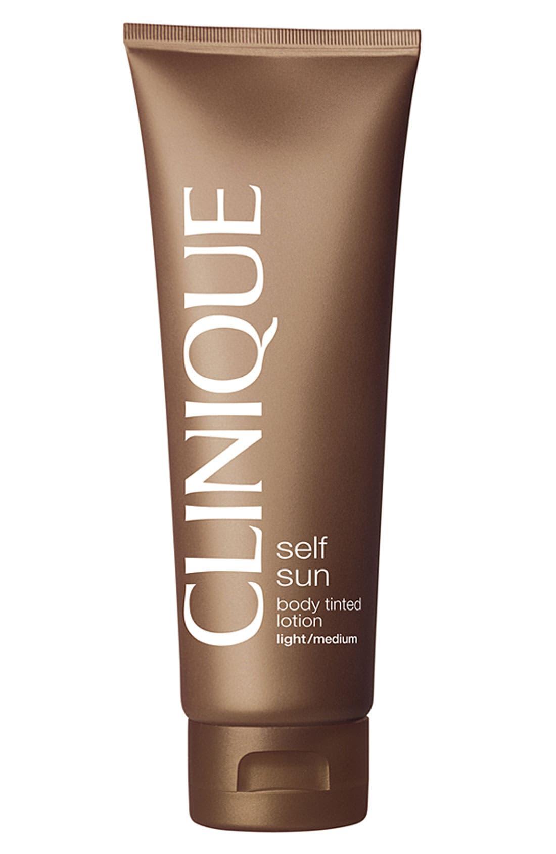 CLINIQUE, Self Sun Body Tinted Lotion, Main thumbnail 1, color, LIGHT/MEDIUM