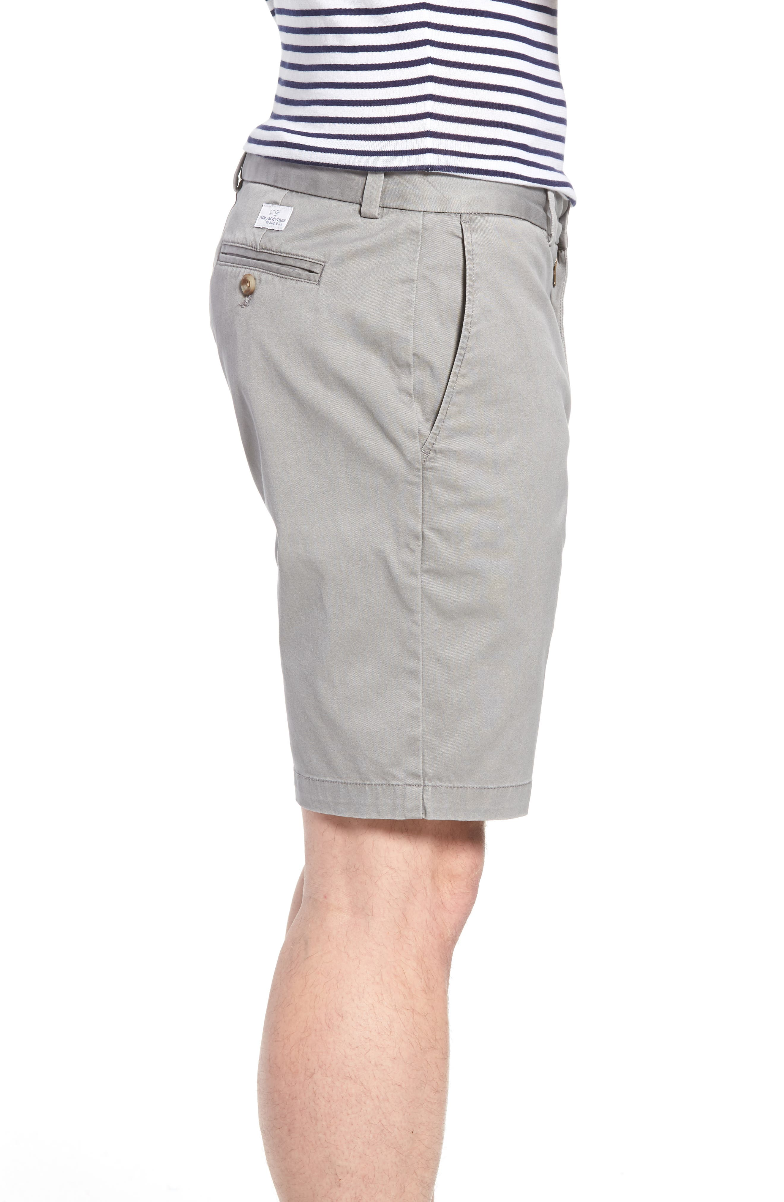 VINEYARD VINES, 9 Inch Stretch Breaker Shorts, Alternate thumbnail 3, color, ANCHOR GREY