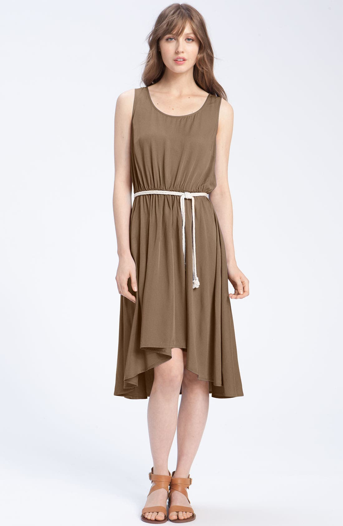 CASLON<SUP>®</SUP>, Belted Woven Tank Dress, Main thumbnail 1, color, 200