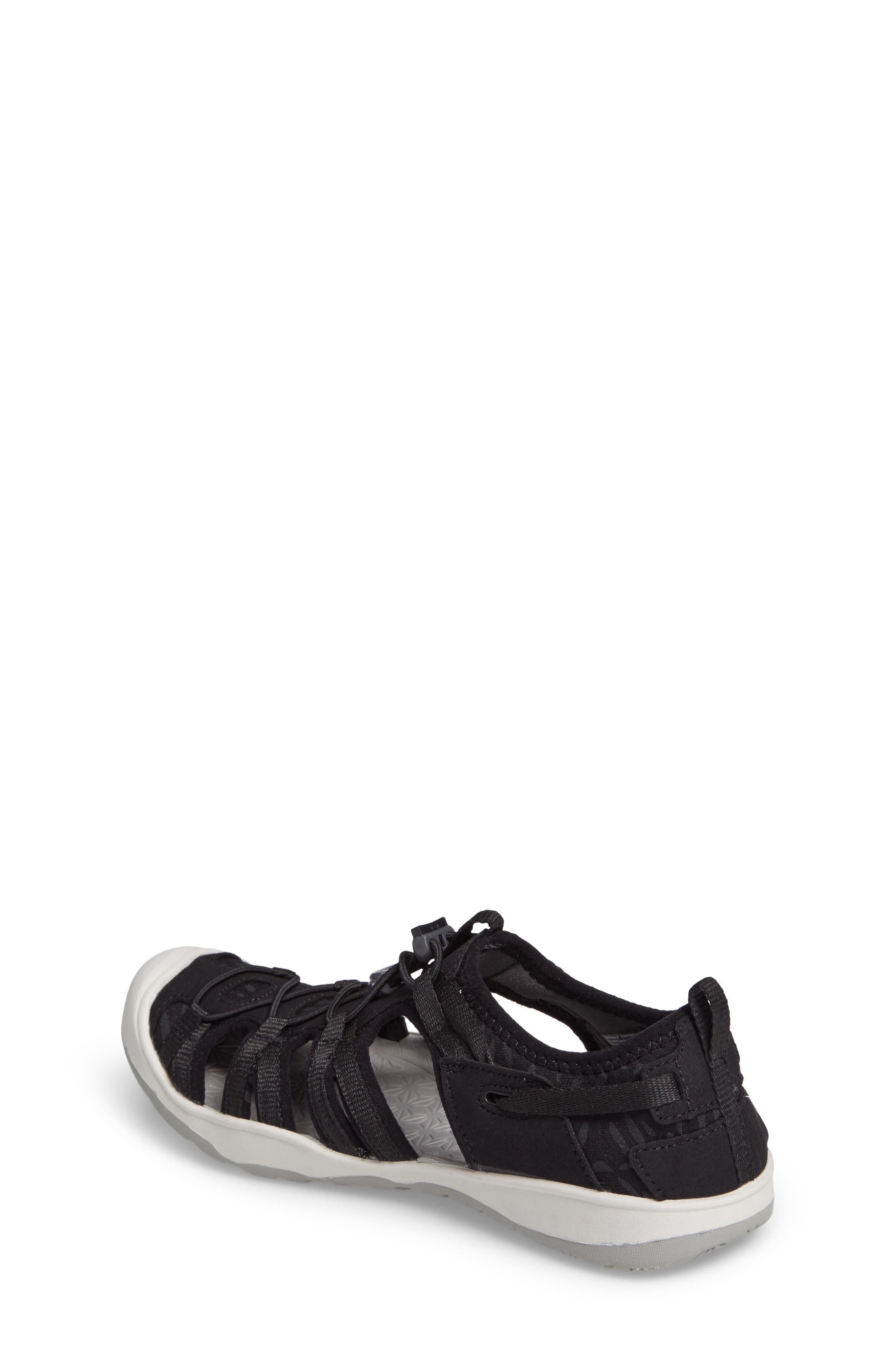 KEEN, Moxie Water Friendly Sandal, Alternate thumbnail 2, color, BLACK/ VAPOR