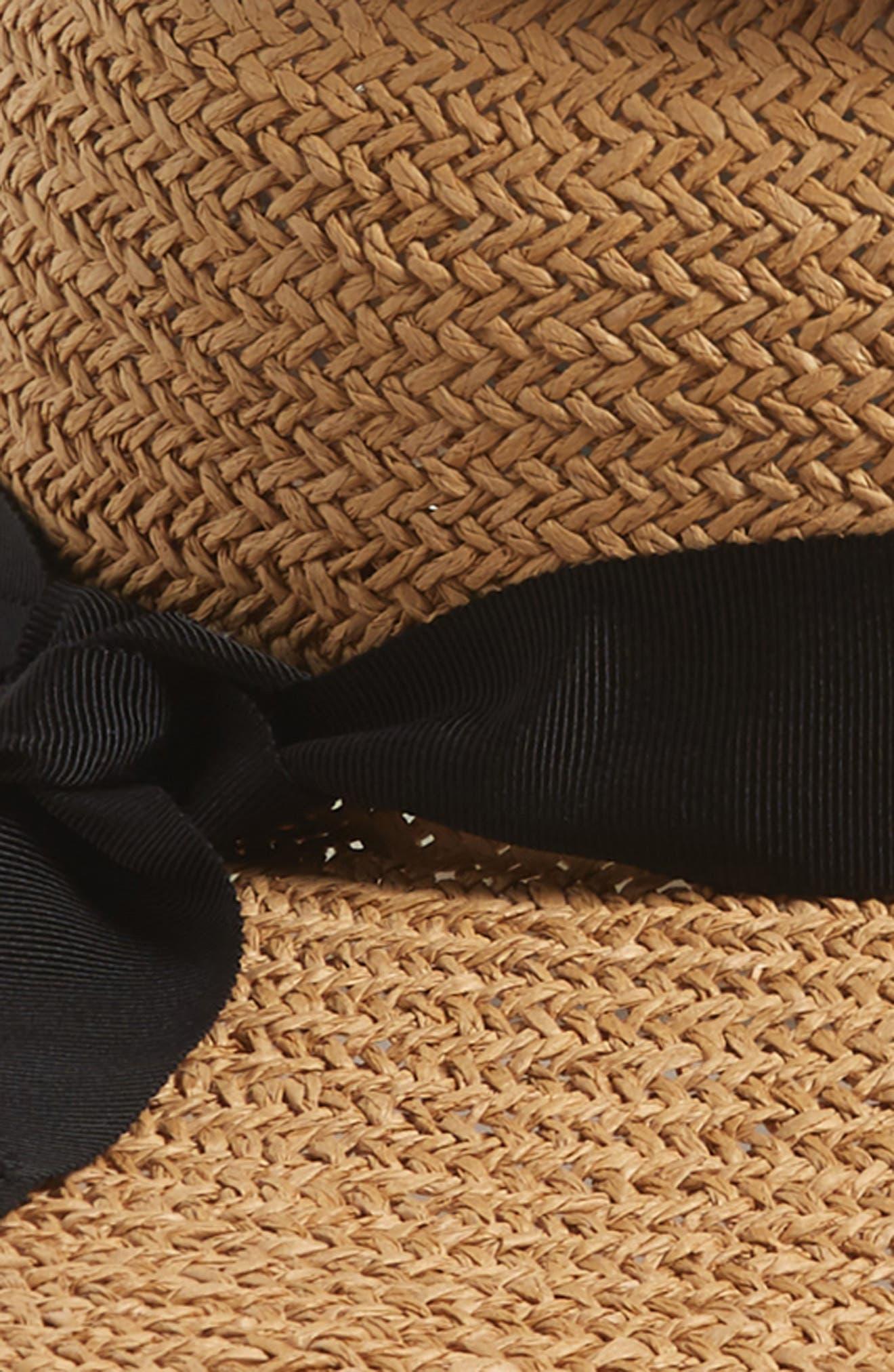 LOLA HATS, Gum Wad Straw Hat, Alternate thumbnail 2, color, SAND/ BLACK