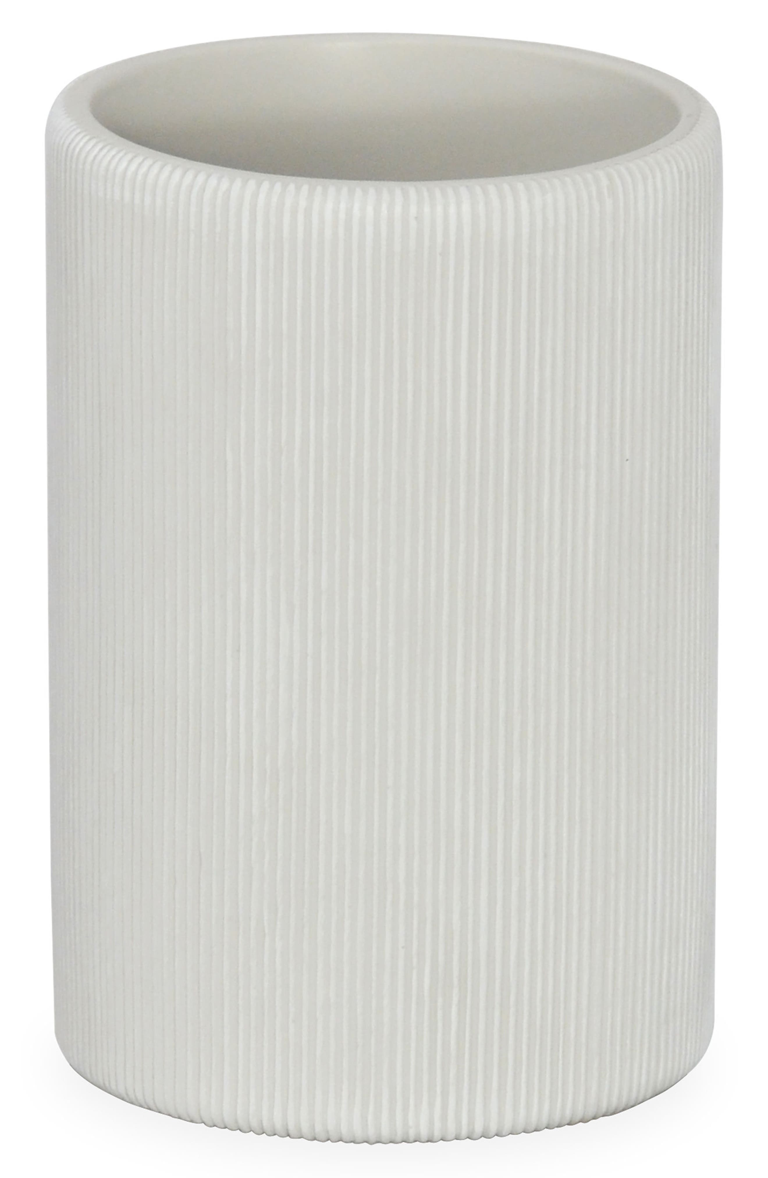 DKNY Fine Lines Ceramic Tumbler, Main, color, WHITE