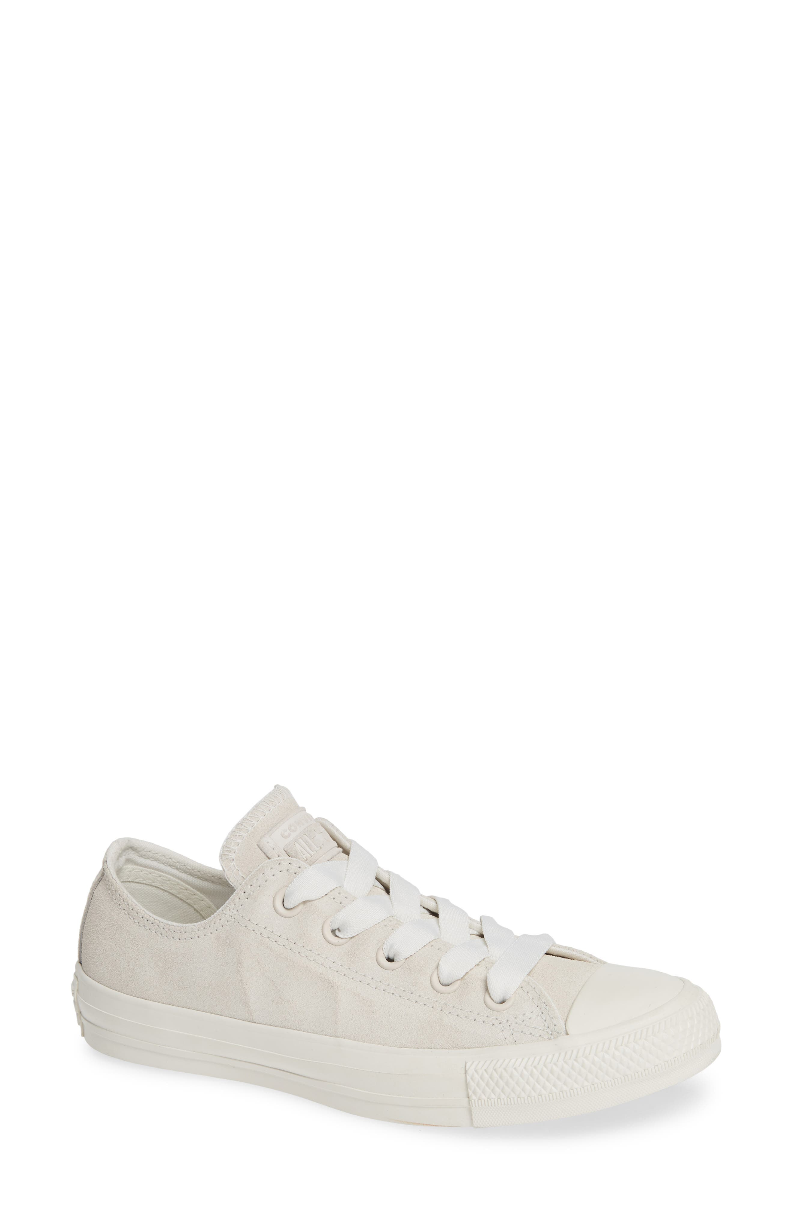 CONVERSE, Chuck Taylor<sup>®</sup> All Star<sup>®</sup> Ox Sneaker, Main thumbnail 1, color, VINTAGE WHITE SUEDE