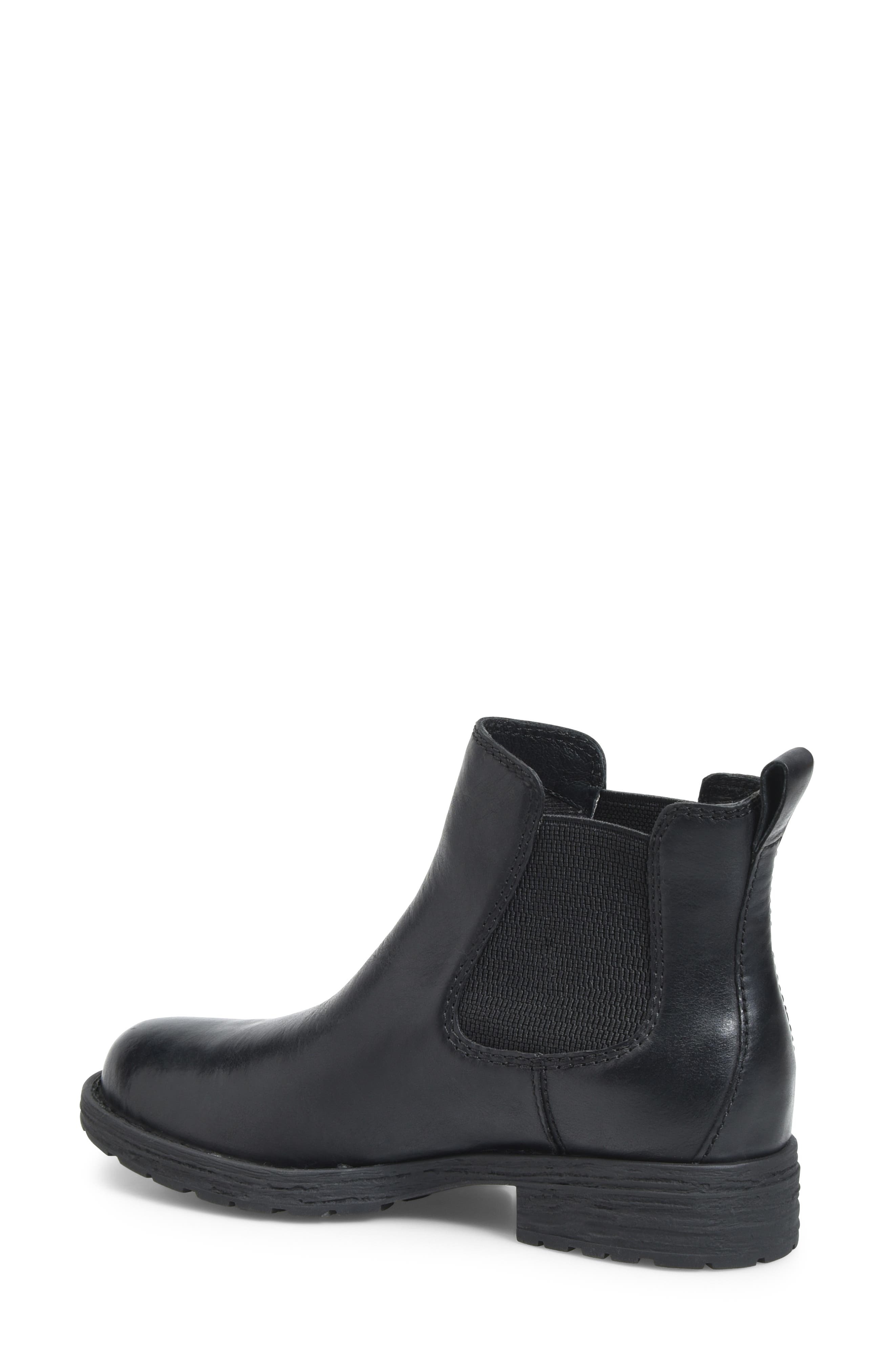 BØRN, Cove Waterproof Chelsea Boot, Alternate thumbnail 2, color, BLACK DISTRESSED LEATHER