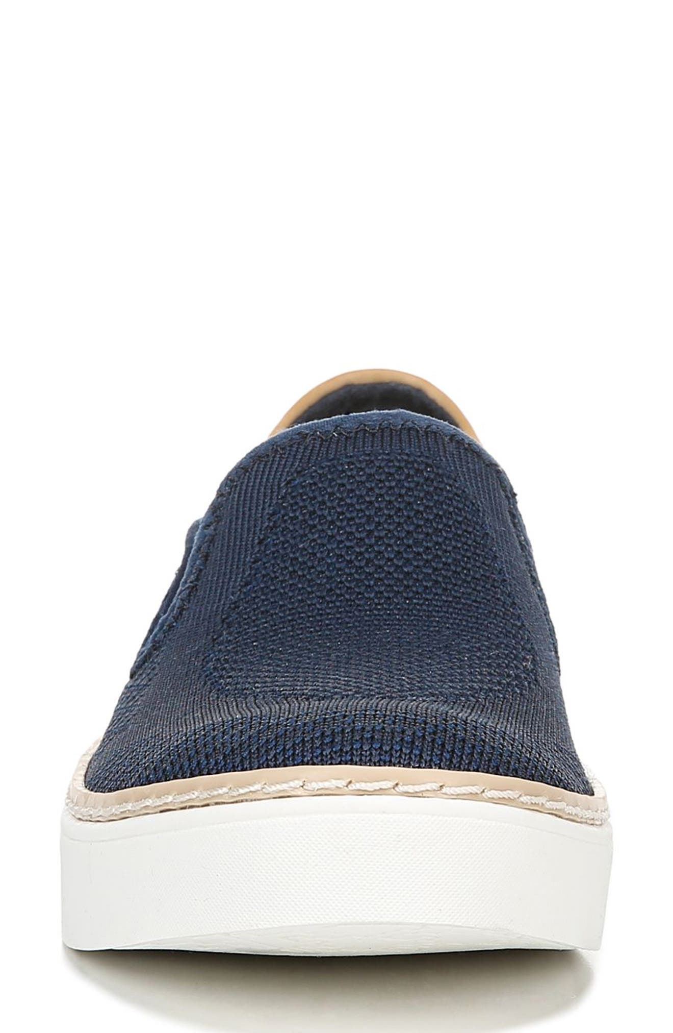DR. SCHOLL'S, Madi Slip-On Sneaker, Alternate thumbnail 4, color, NAVY KNIT FABRIC