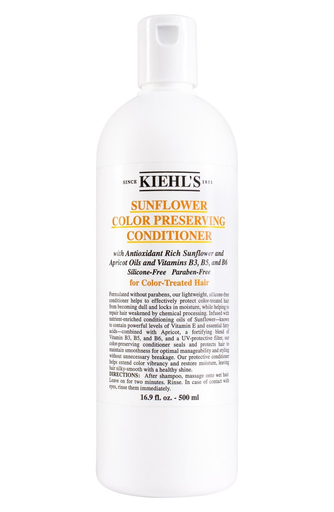 KIEHL'S SINCE 1851, Sunflower Color Preserving Conditioner, Alternate thumbnail 3, color, NO COLOR